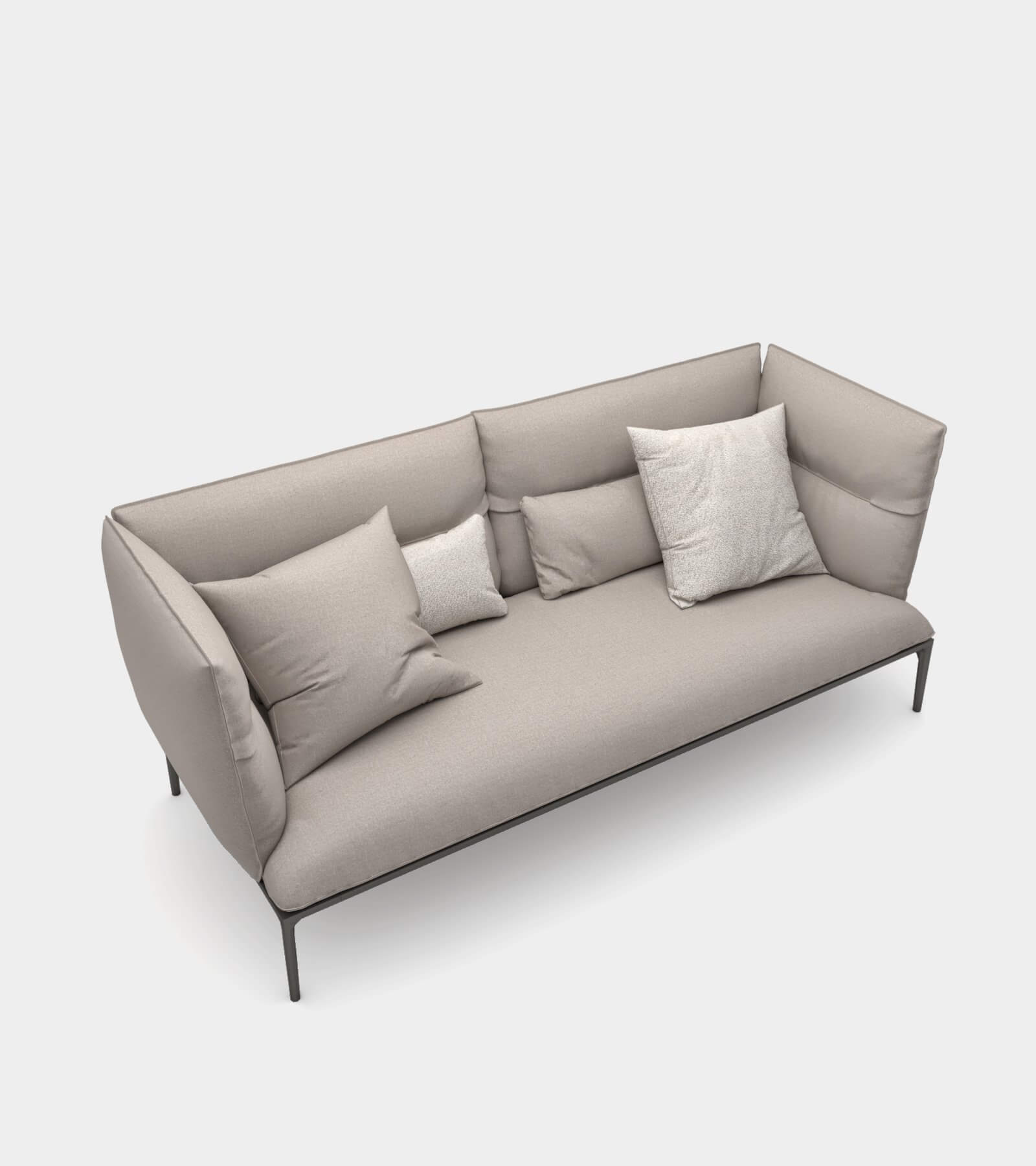 Sofa with high backrest-21 3D Model