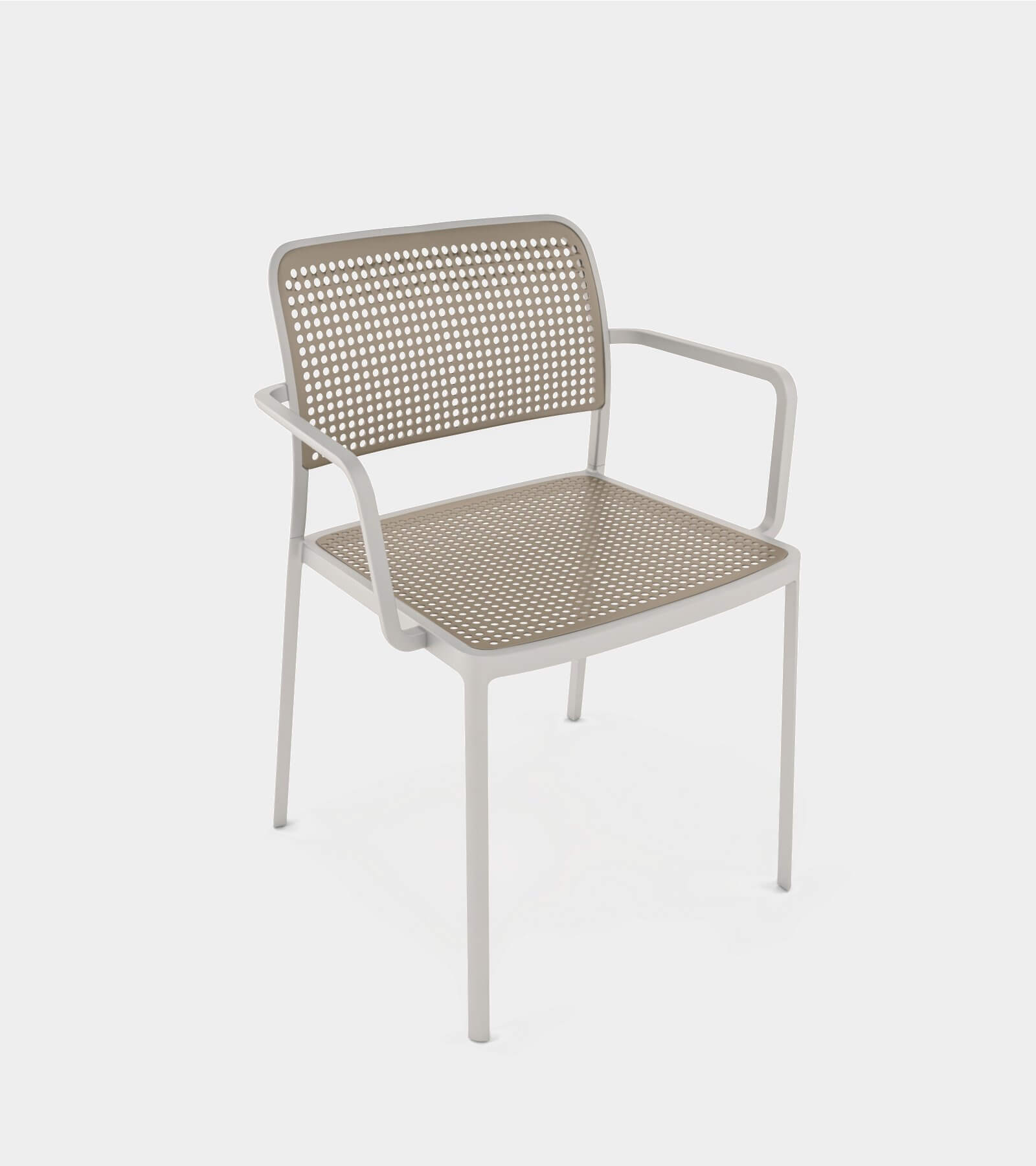Aluminium armchair for interior and exterior-1 3D Model