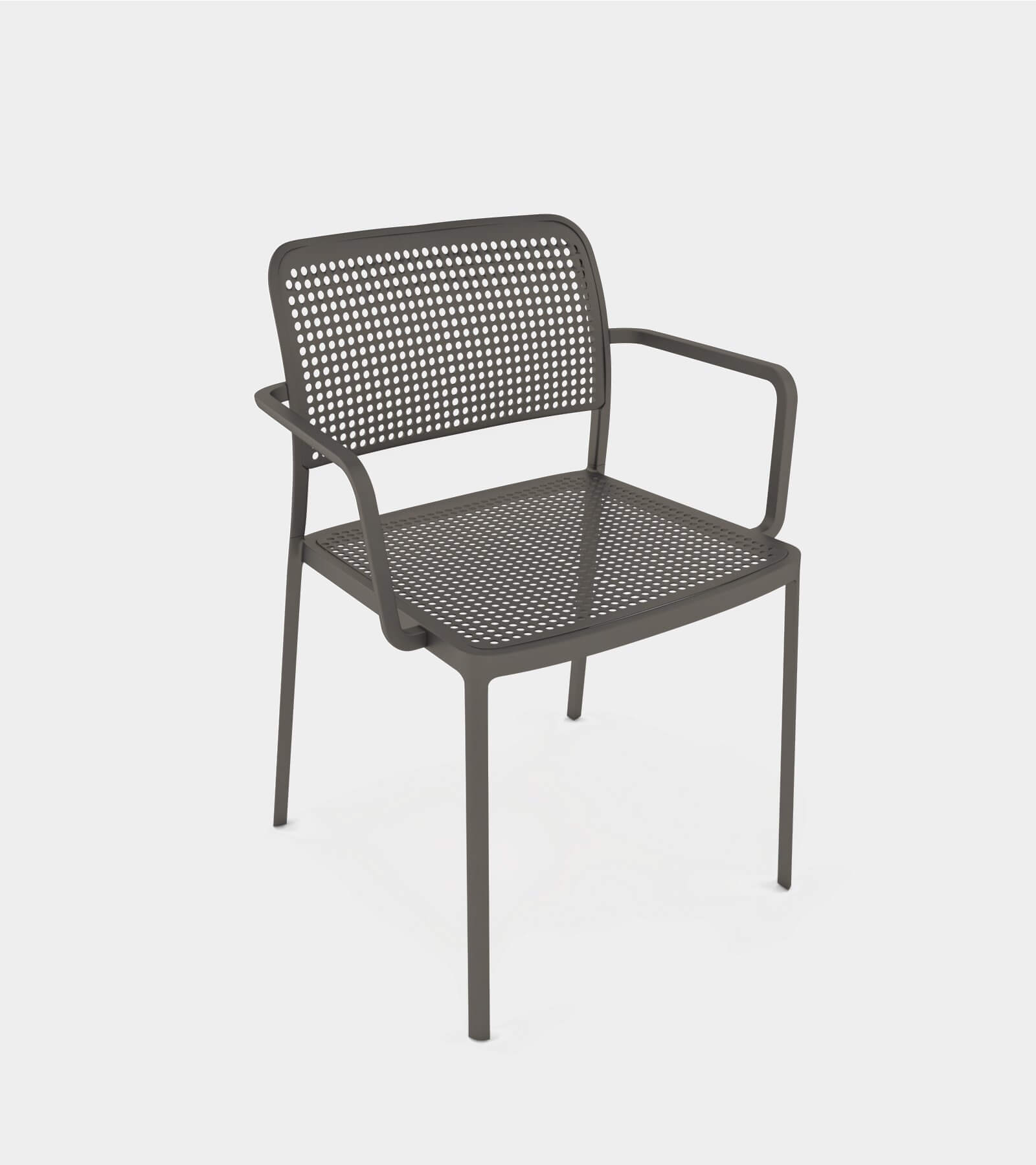 Aluminium armchair for interior and exterior-2 3D Model