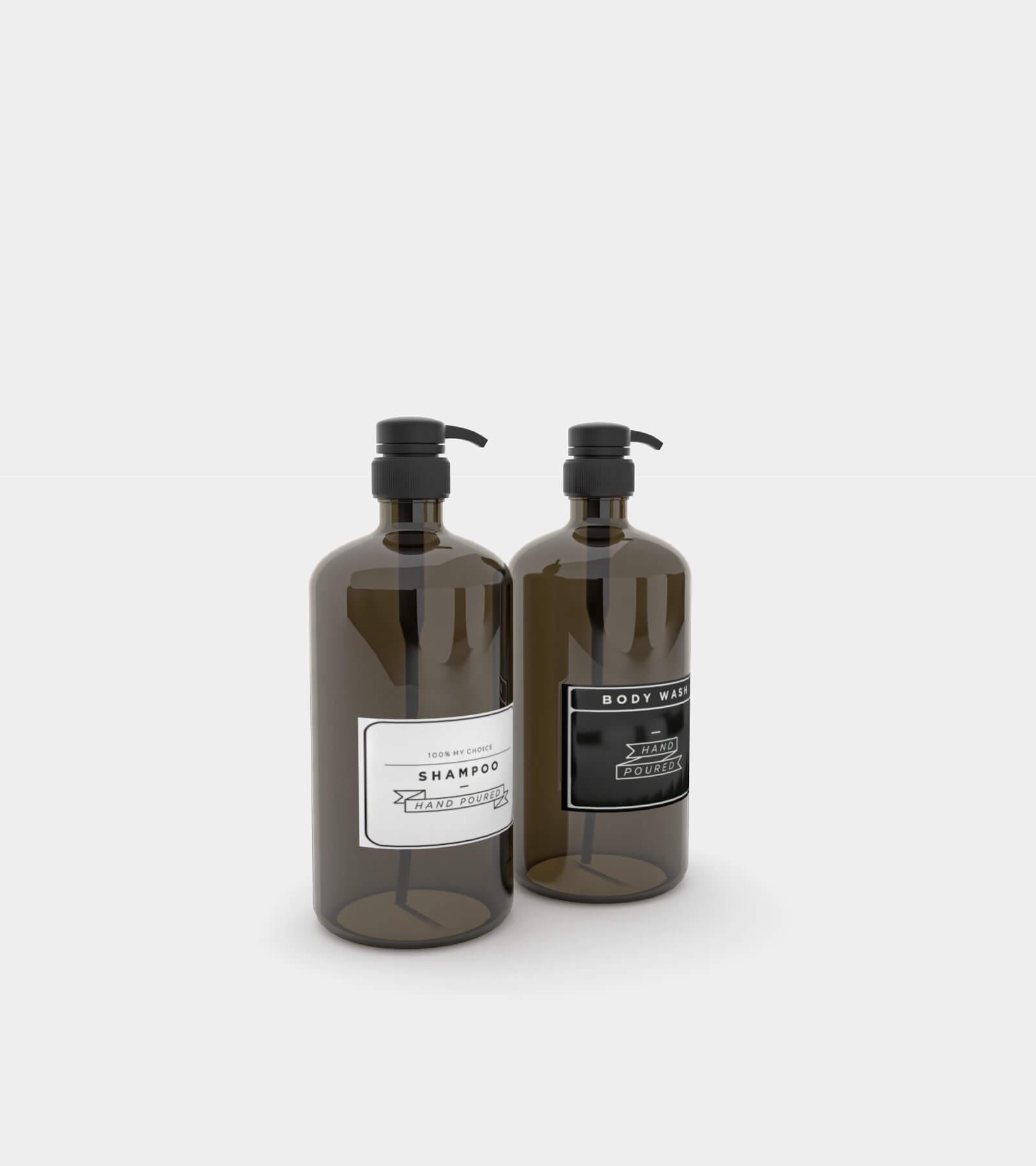 Amber soap dispenser bottle 2 - 3D Model
