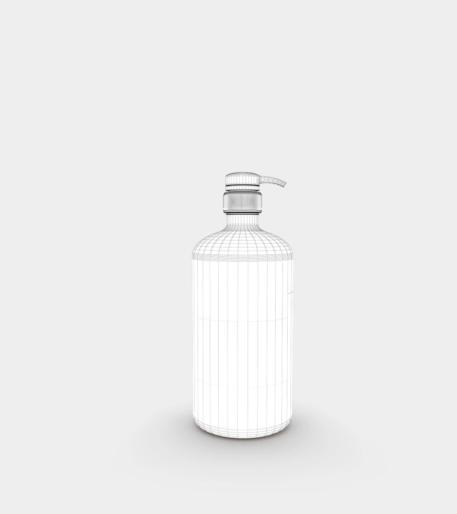 Amber soap dispenser bottle-wire-1 3D Model