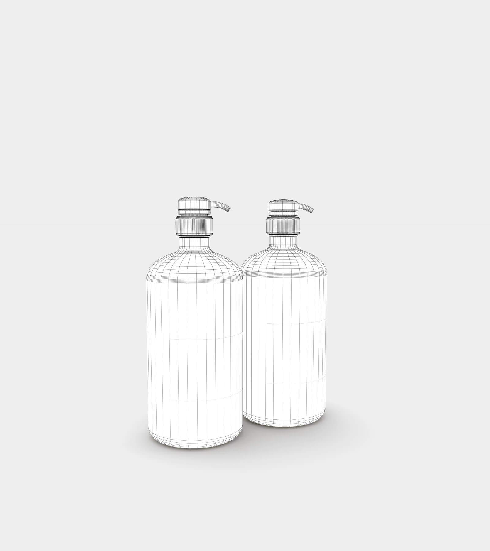 Amber soap dispenser bottle-wire-2 3D Model