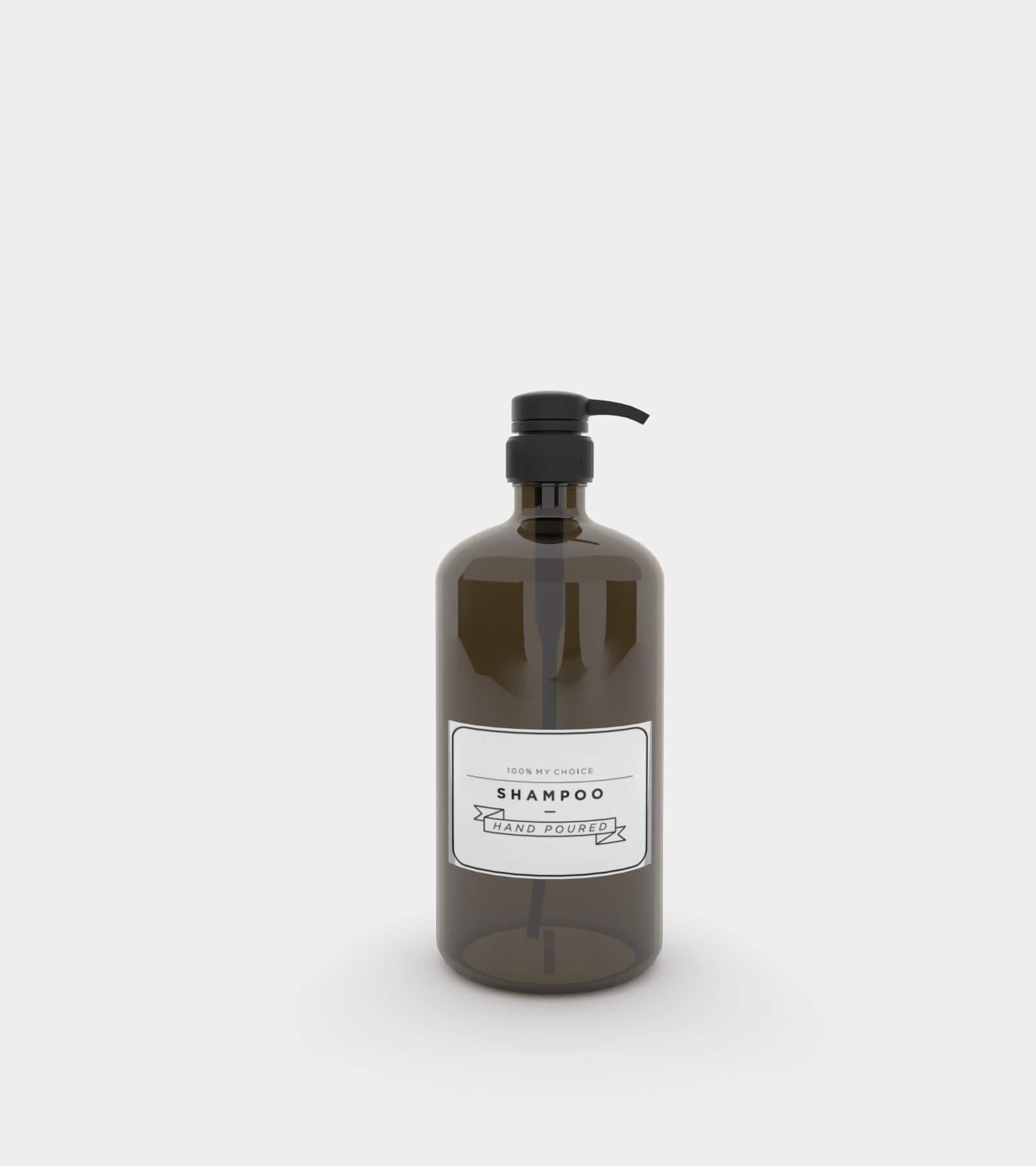 Amber soap dispenser bottle - 3D Model