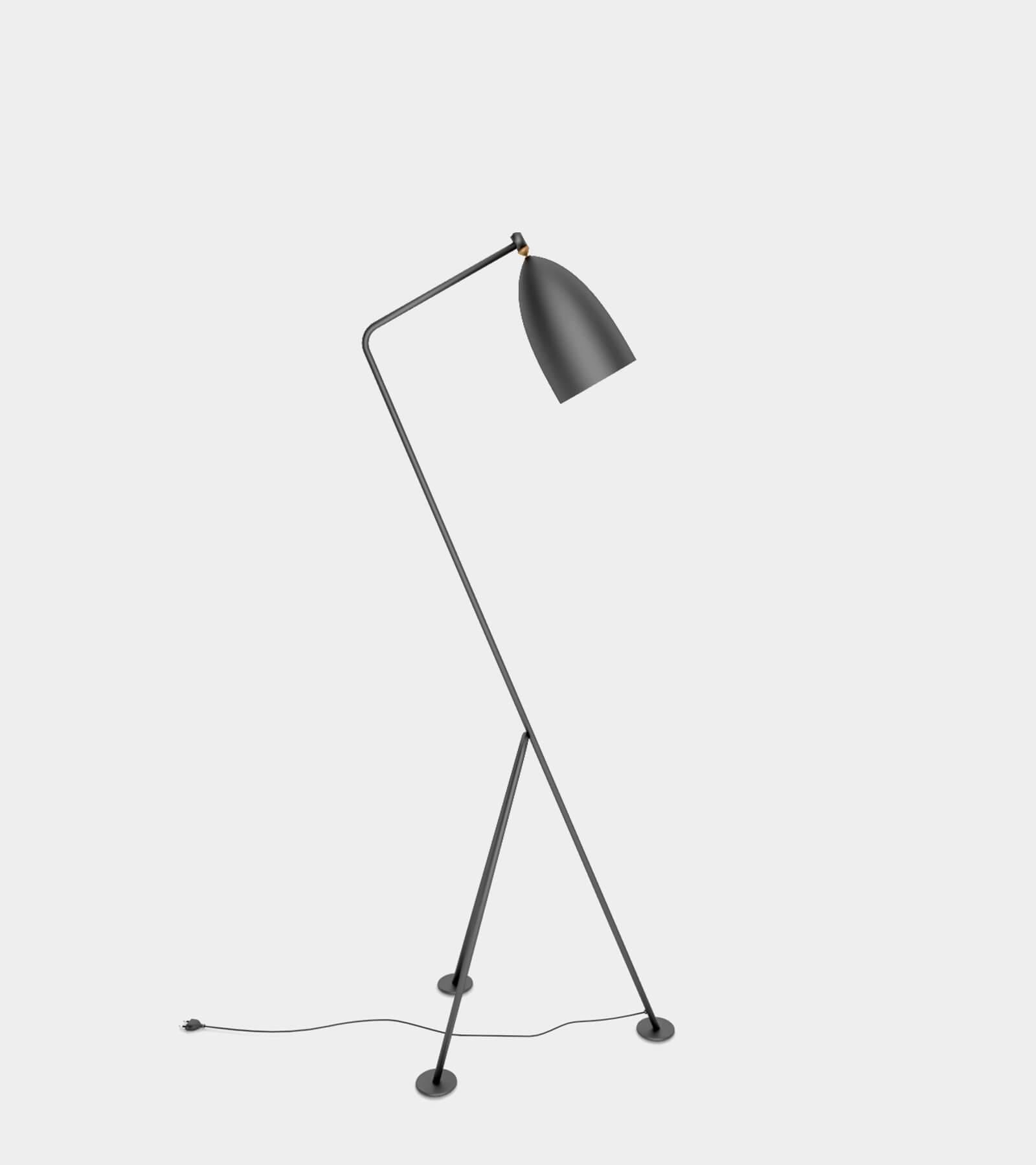 Anthracite floor lamp - 3D Model