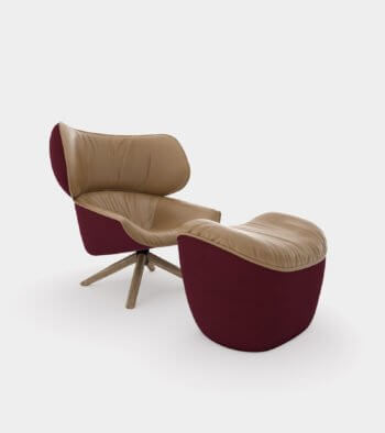 Armchair with headrest ears1 - 3D Model