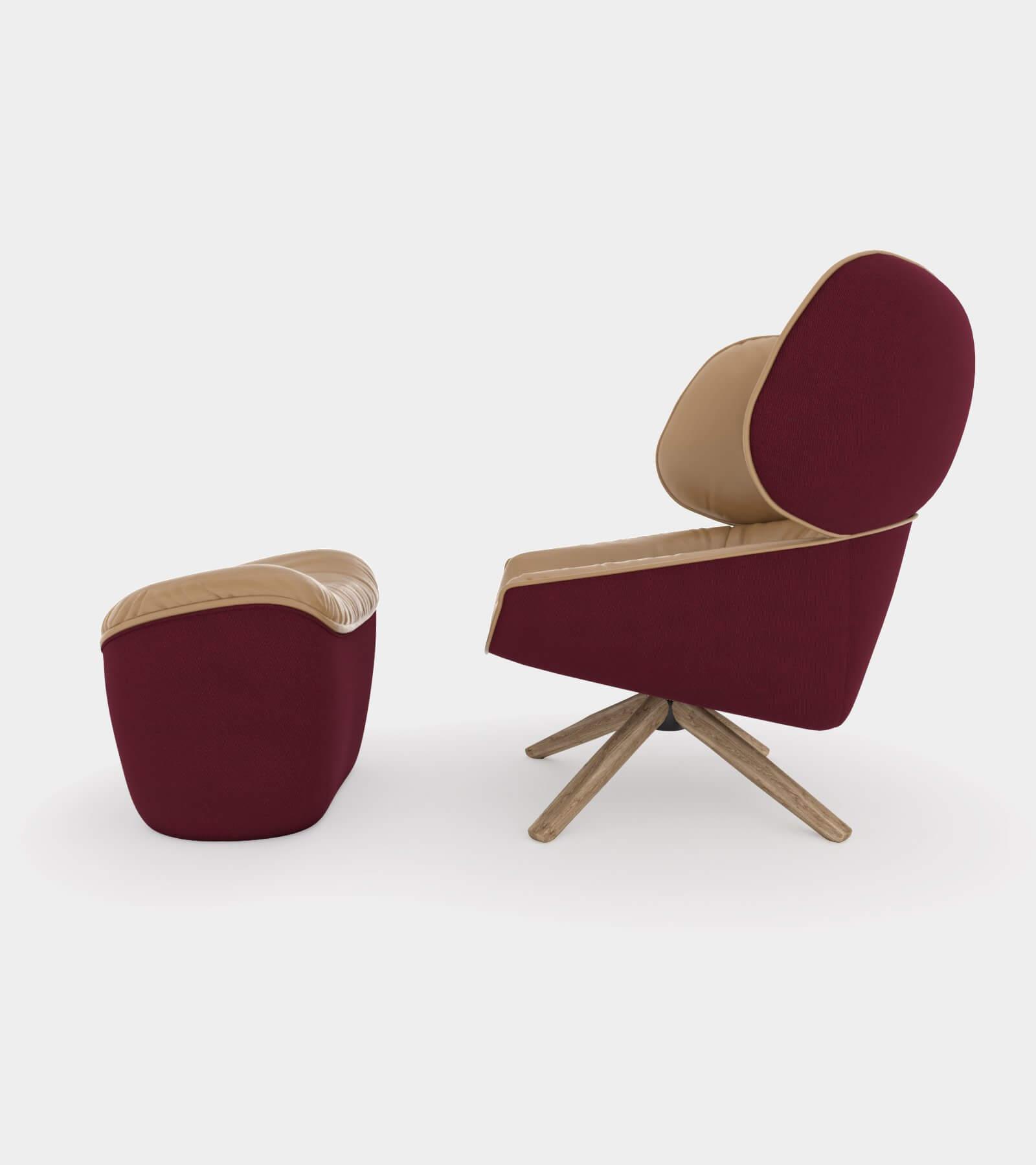 Armchair with headrest ears2 - 3D Model