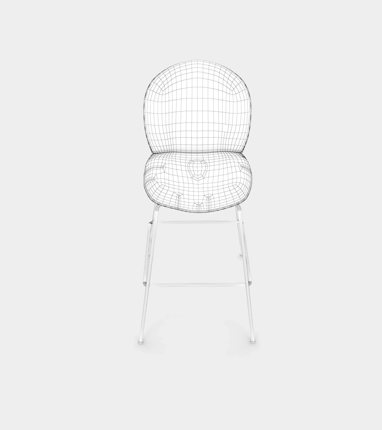 Bar and counter stool with fabric cover-wire-2 3D Model