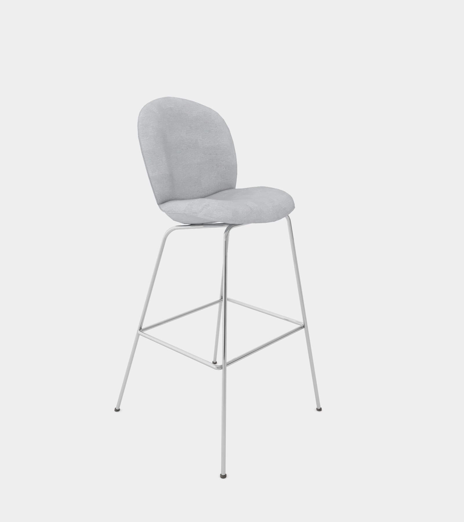 Bar and counter stool with fabric cover - 3D Model