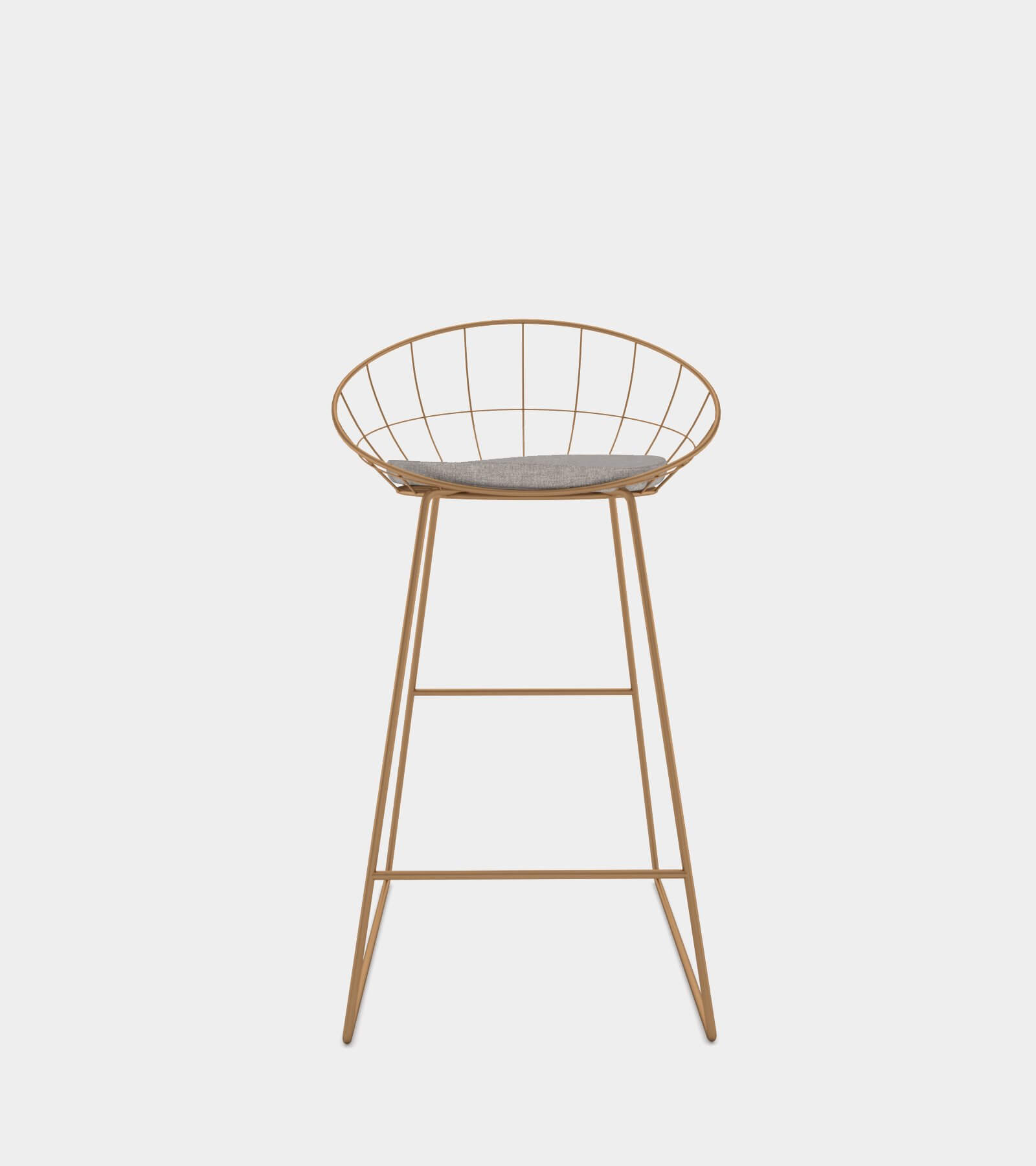 Bar counter stool with metal frame 2 - 3D Model