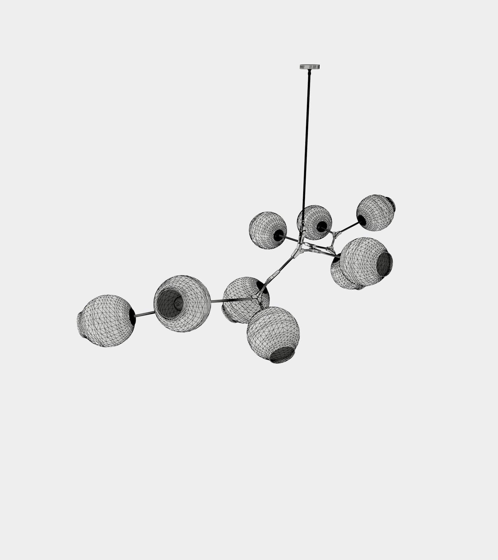 Branch pendant lamp-wire-1 3D Model