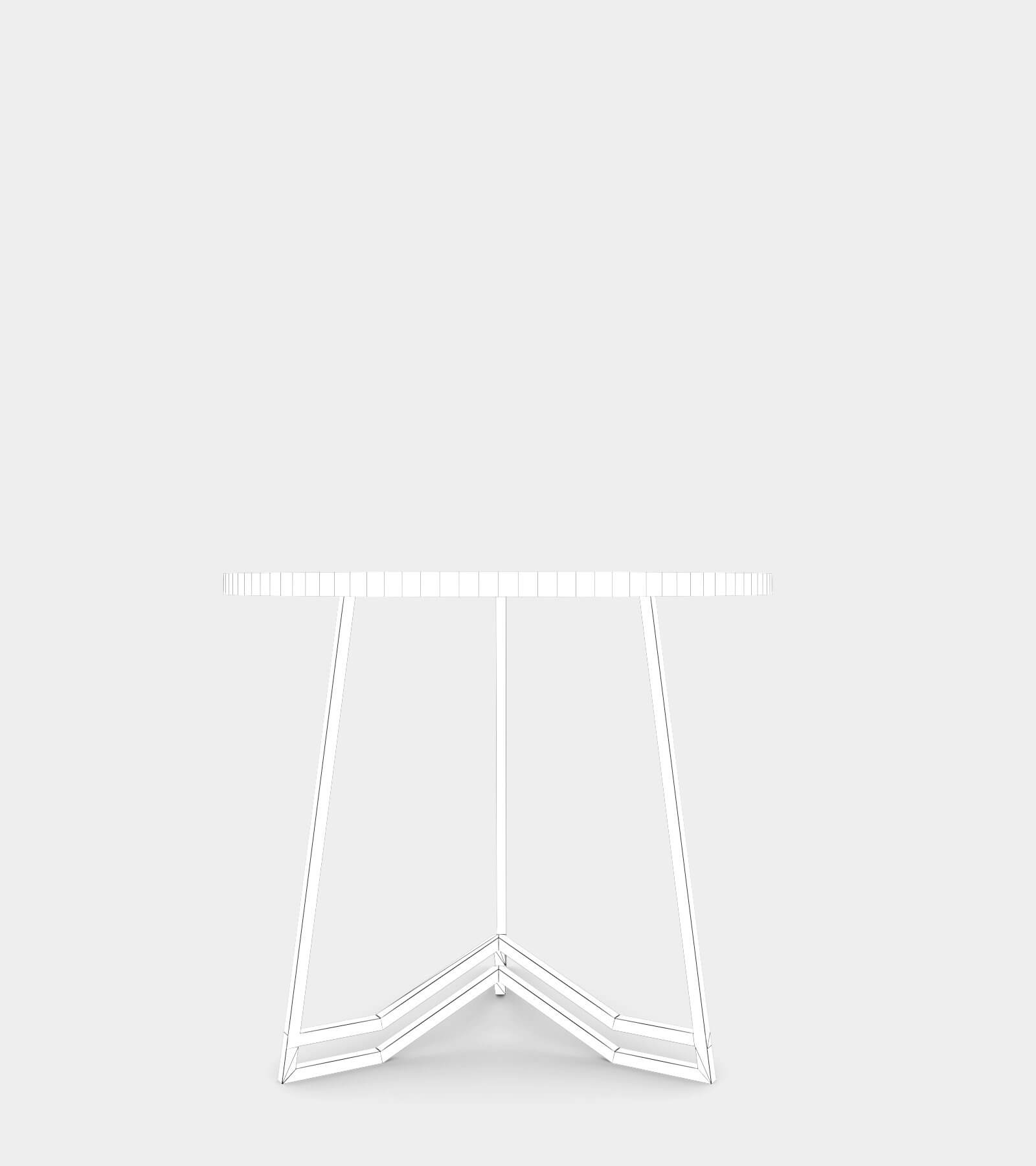 Bronze side table-wire-2 3D Model