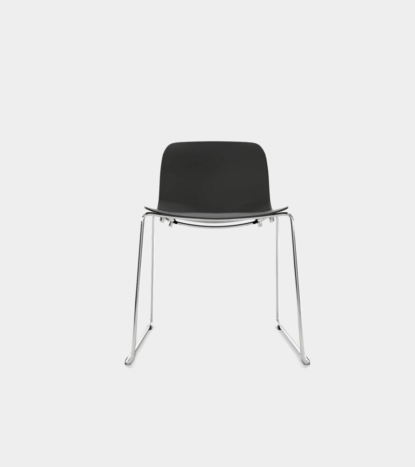 Chair with chrome frame and black seat 2- 3D Model