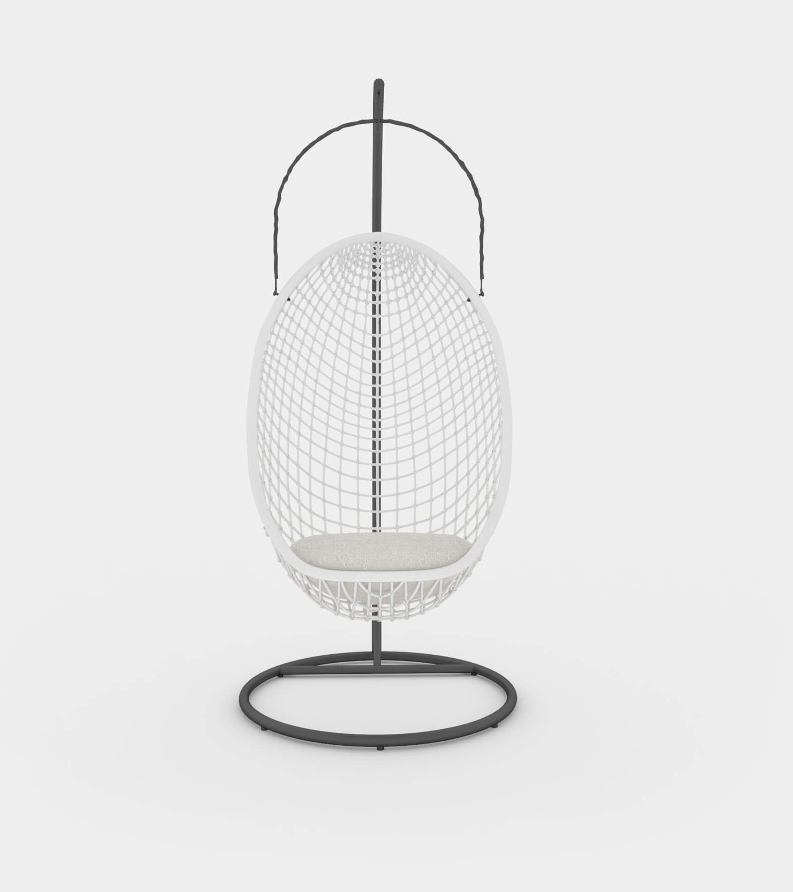Chillout rattan hanging chair 2 - 3D Model