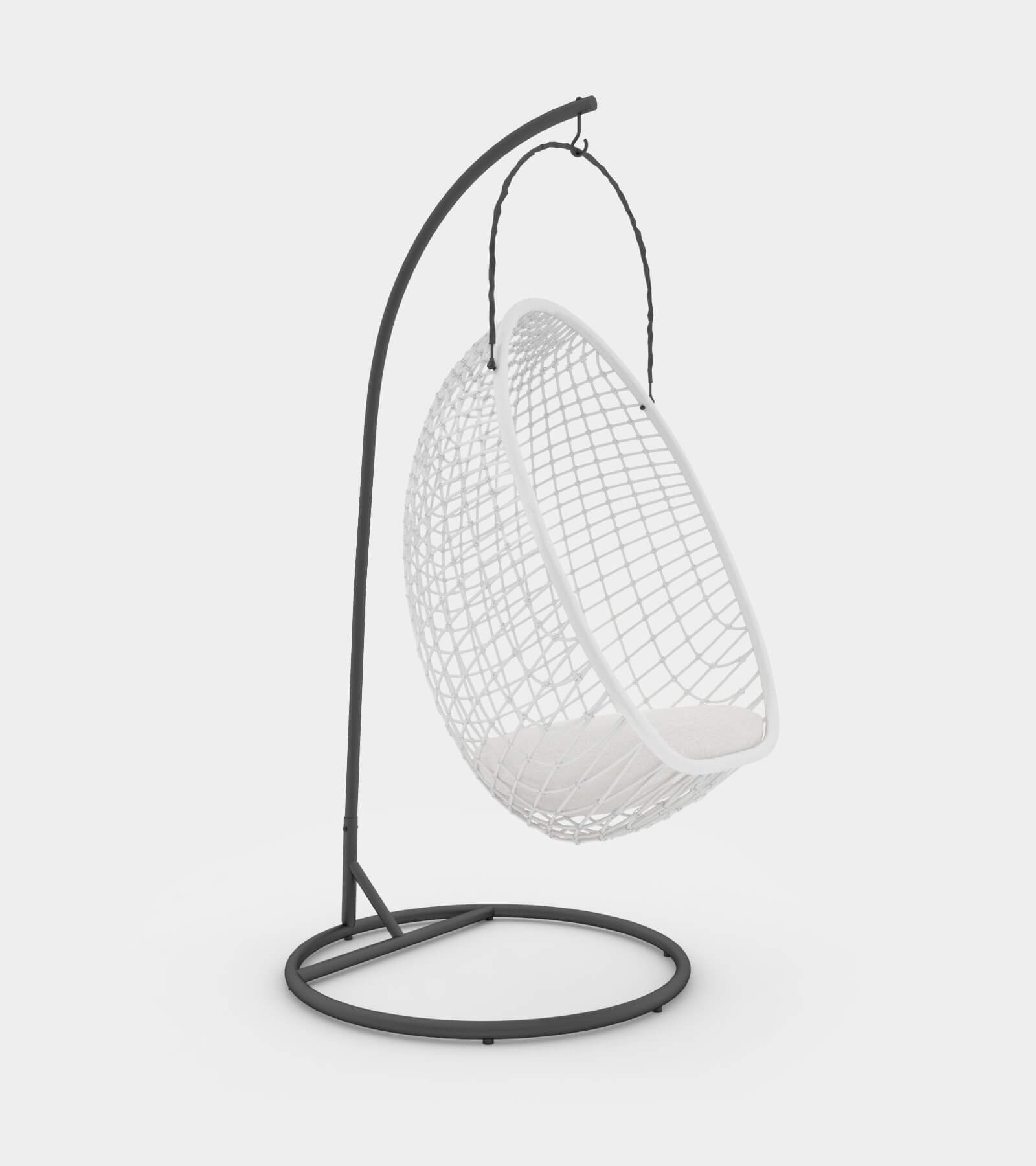 Chillout rattan hanging chair - 3D Model