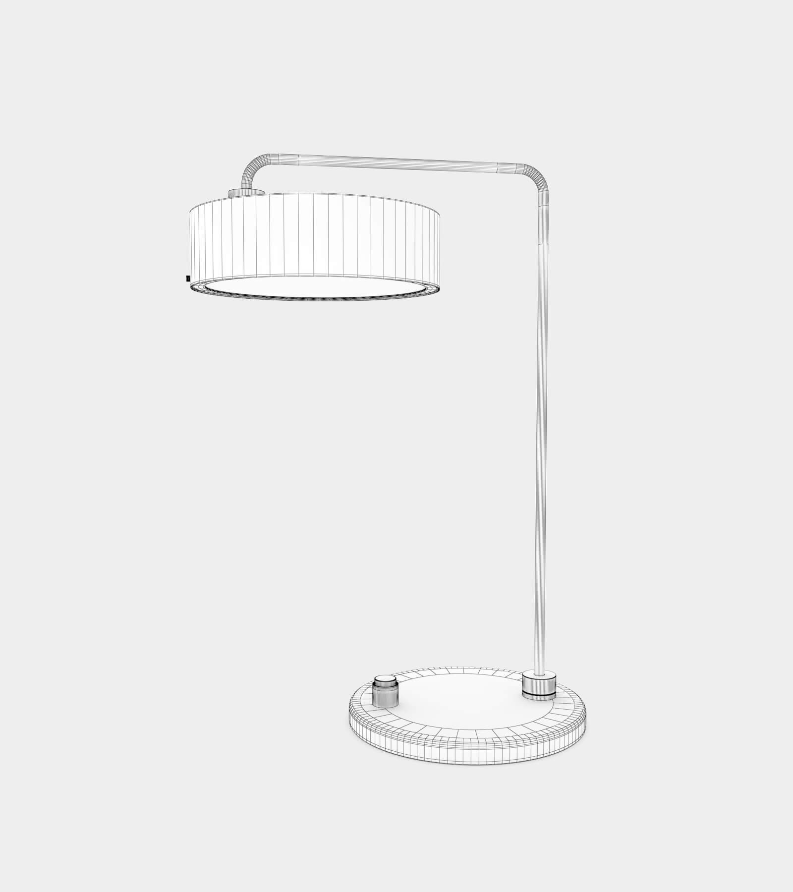 Classic table lamp round-wire-1 3D Model
