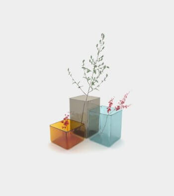 Coloured vases with plants - 3D Model