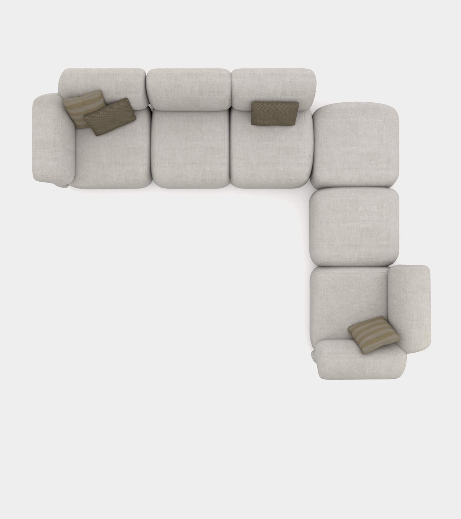 Cozy sofa with round shapes 2 - 3D Model