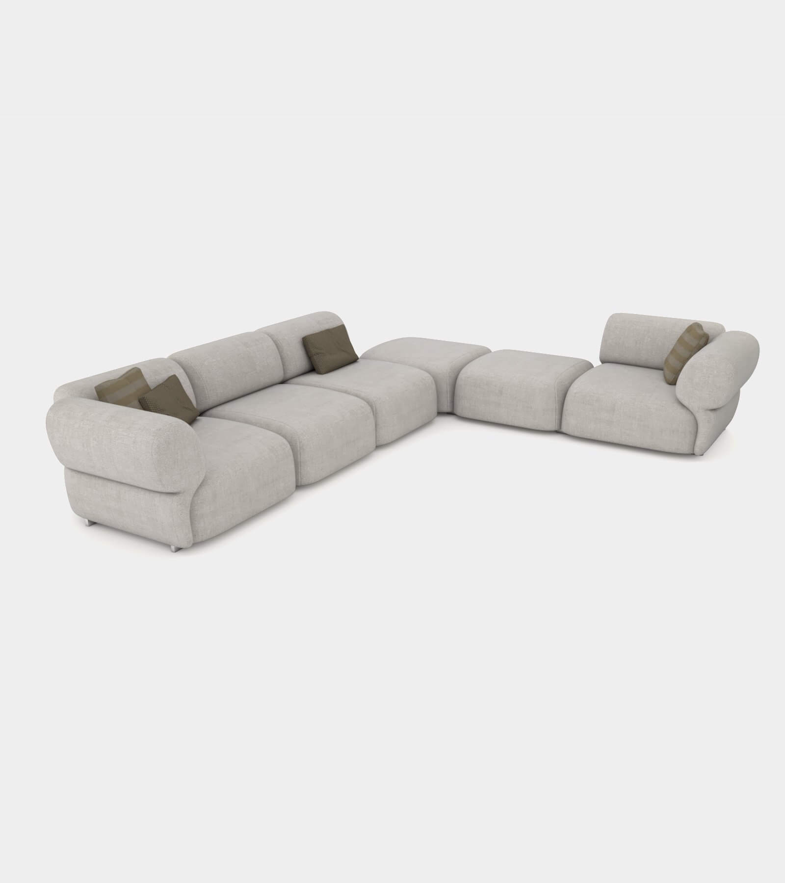 Cozy sofa with round shapes - 3D Model