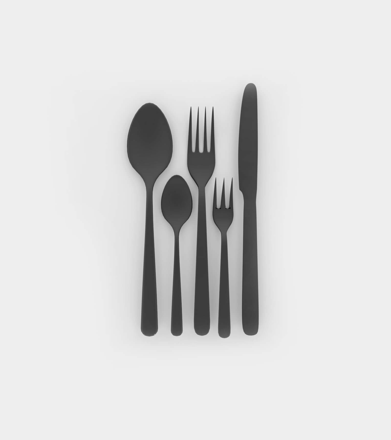 Cuttlery; spoon, knife and fork 2 - 3D Model