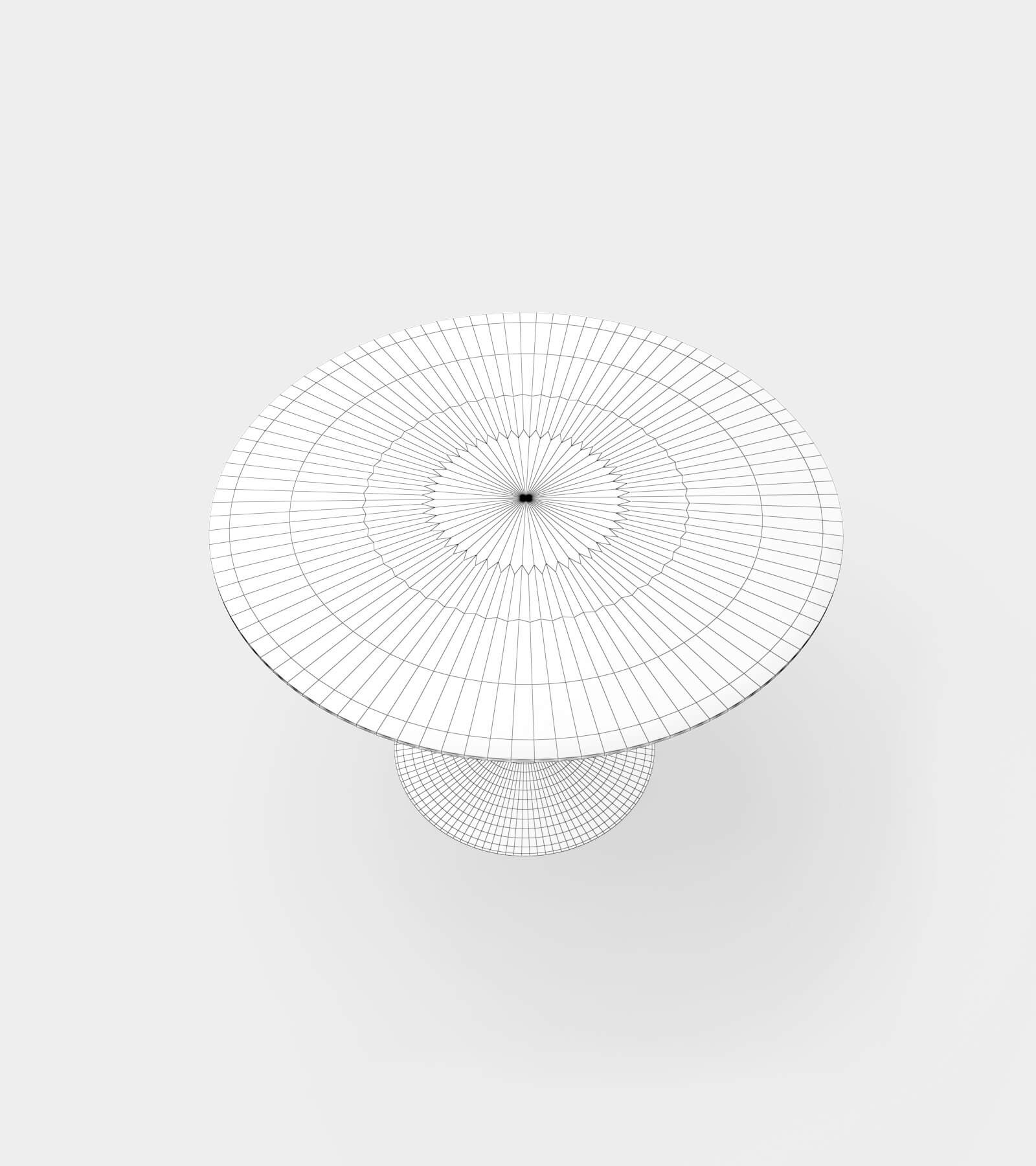 Dining table round for 4 people-wire-2 3D Model