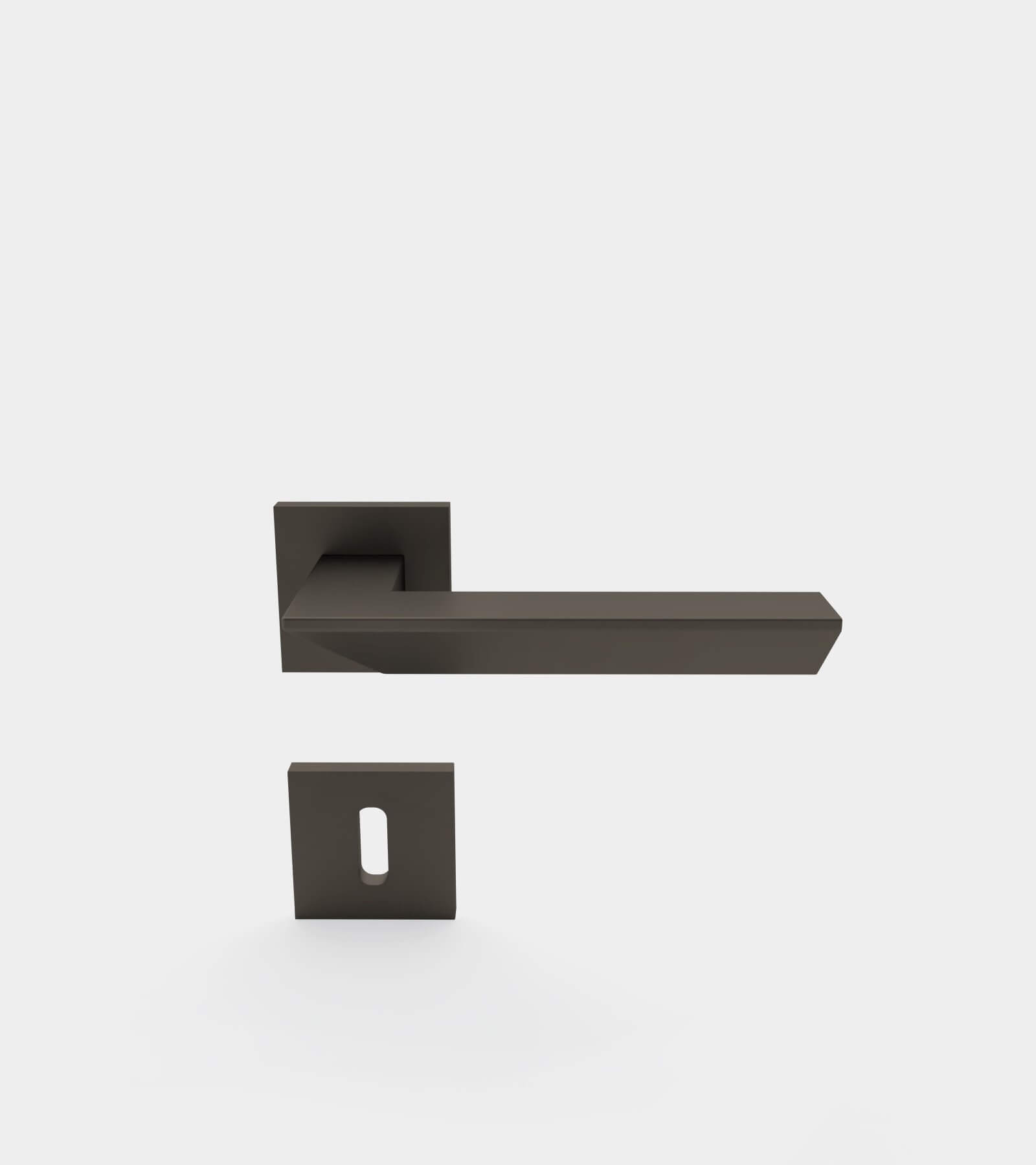 Door handle set for interior - 3D Model