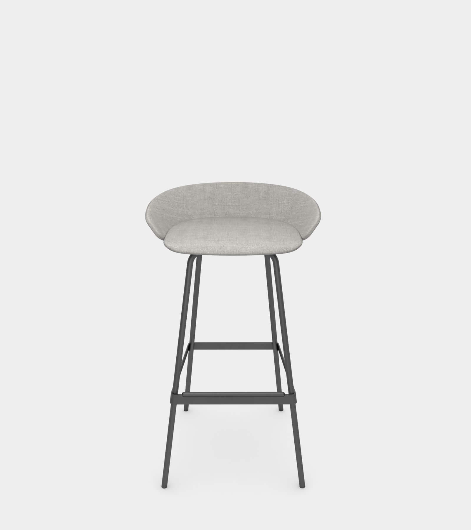 Fabric stool with armrest- 3D Model
