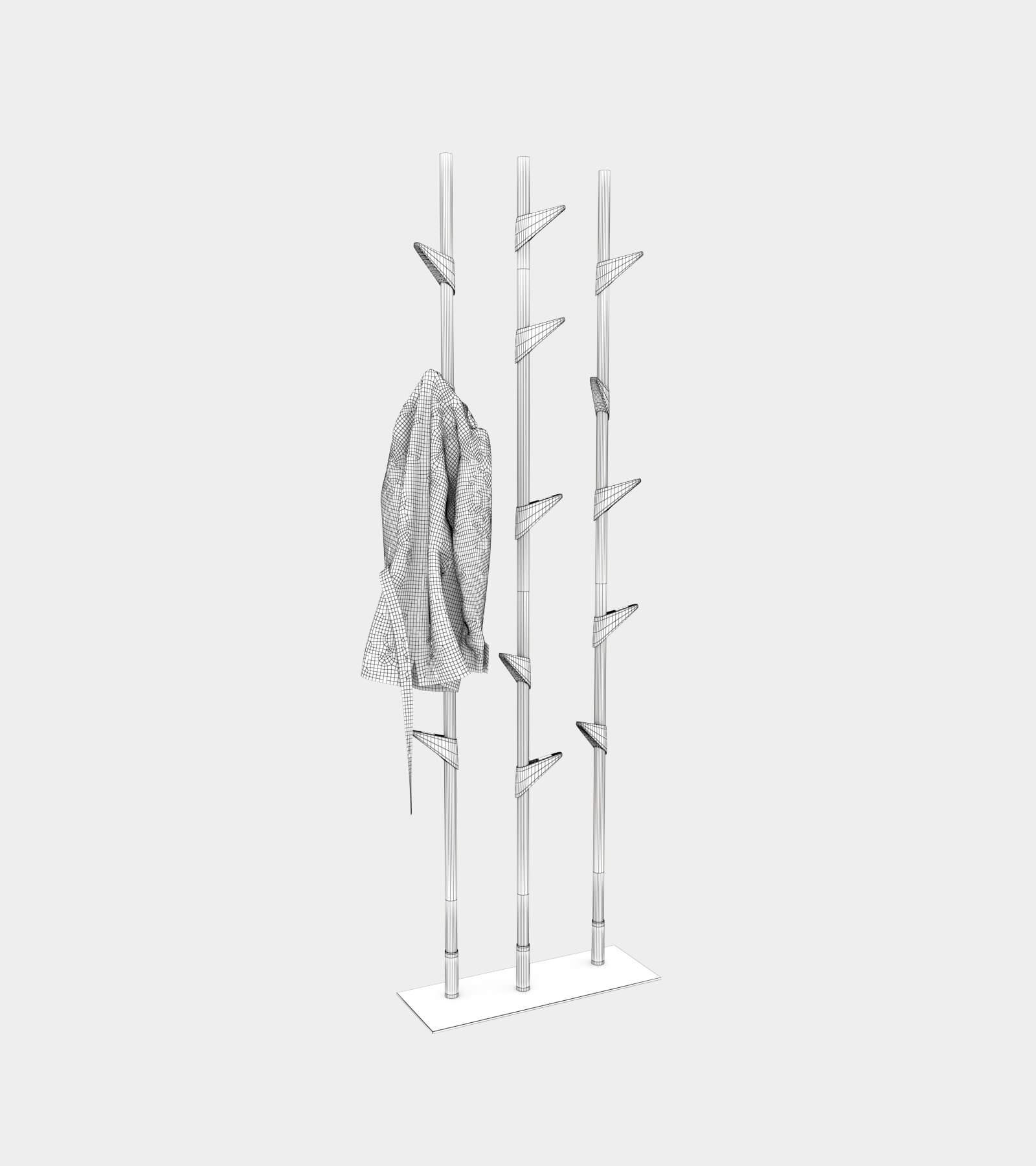 Free standing wardrobe-wire-1 3D Model
