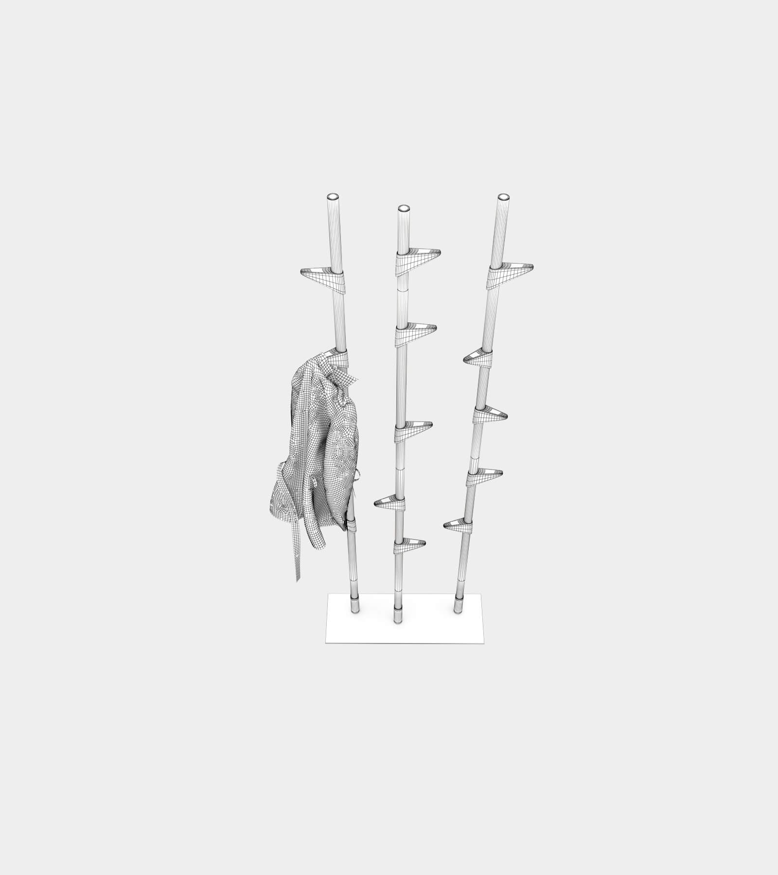 Free standing wardrobe-wire-2 3D Model