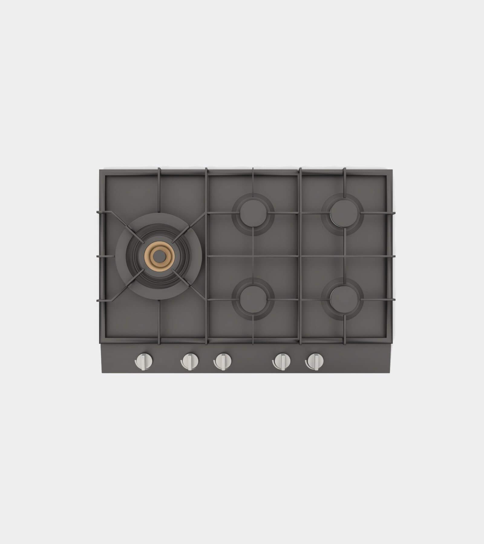Gas hob 2- 3D Model