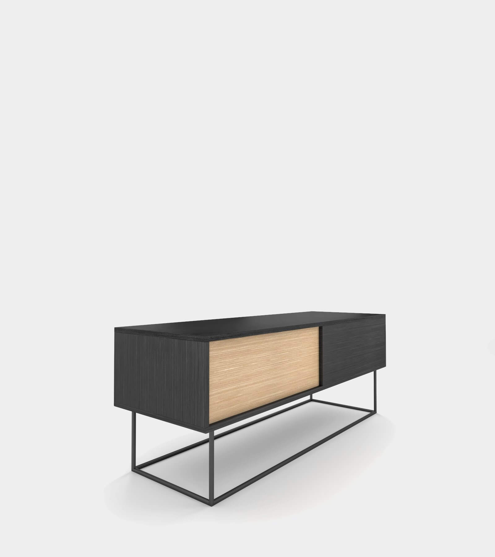 Low sideboard out of wood 2- 3D Model