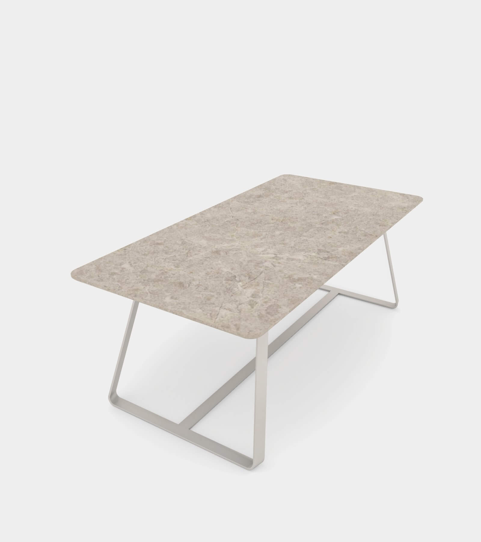 Modern dining table with metal base - 3D Model