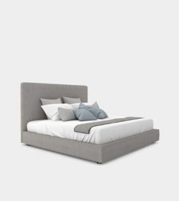 Modern double bed with a bed head - 3D Model