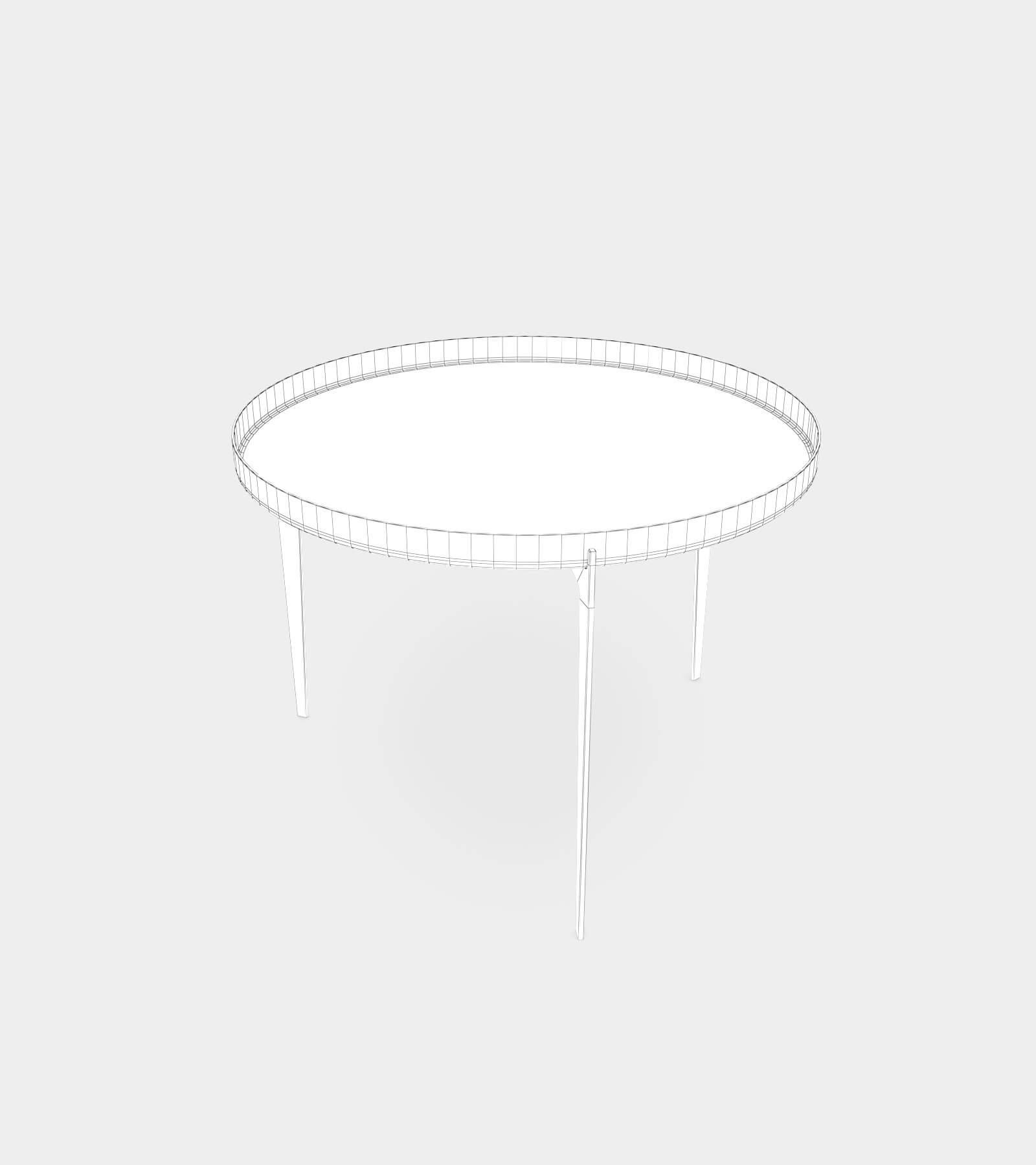 Modern metal coffee table 1-wire-1 3D Model