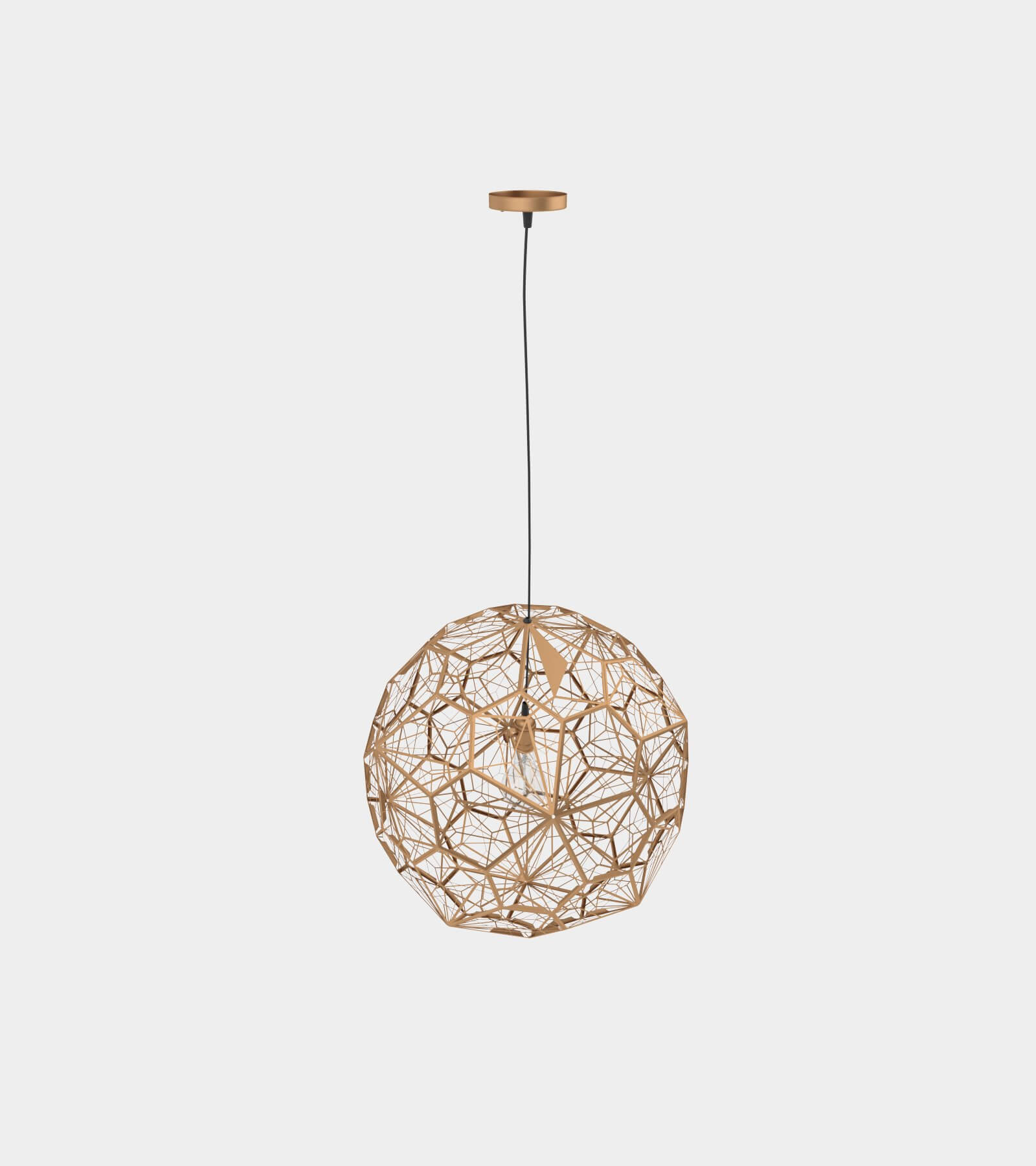 Modern metal copper pendant lamp 2 - 3D Model