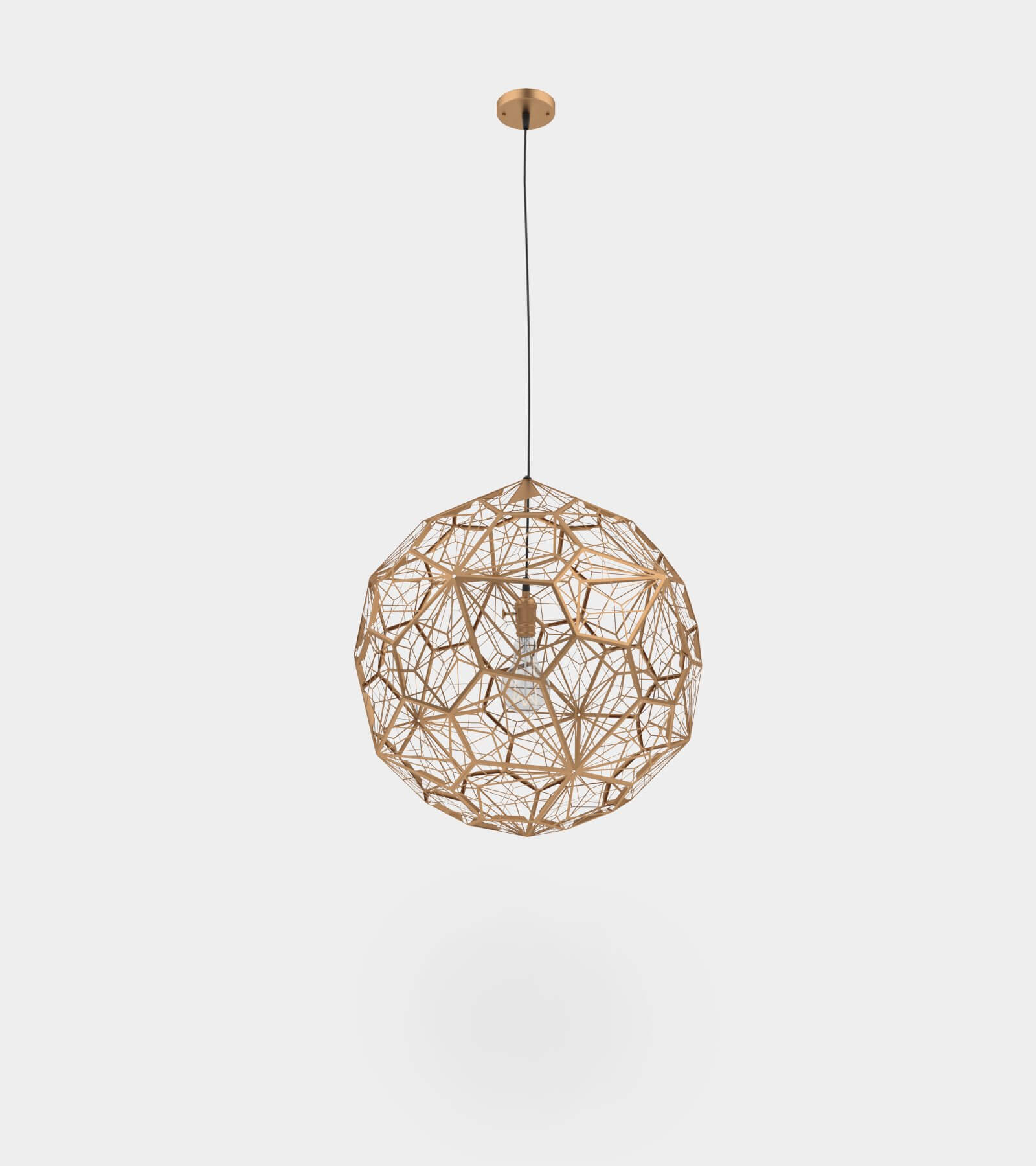 Modern metal copper pendant lamp - 3D Model