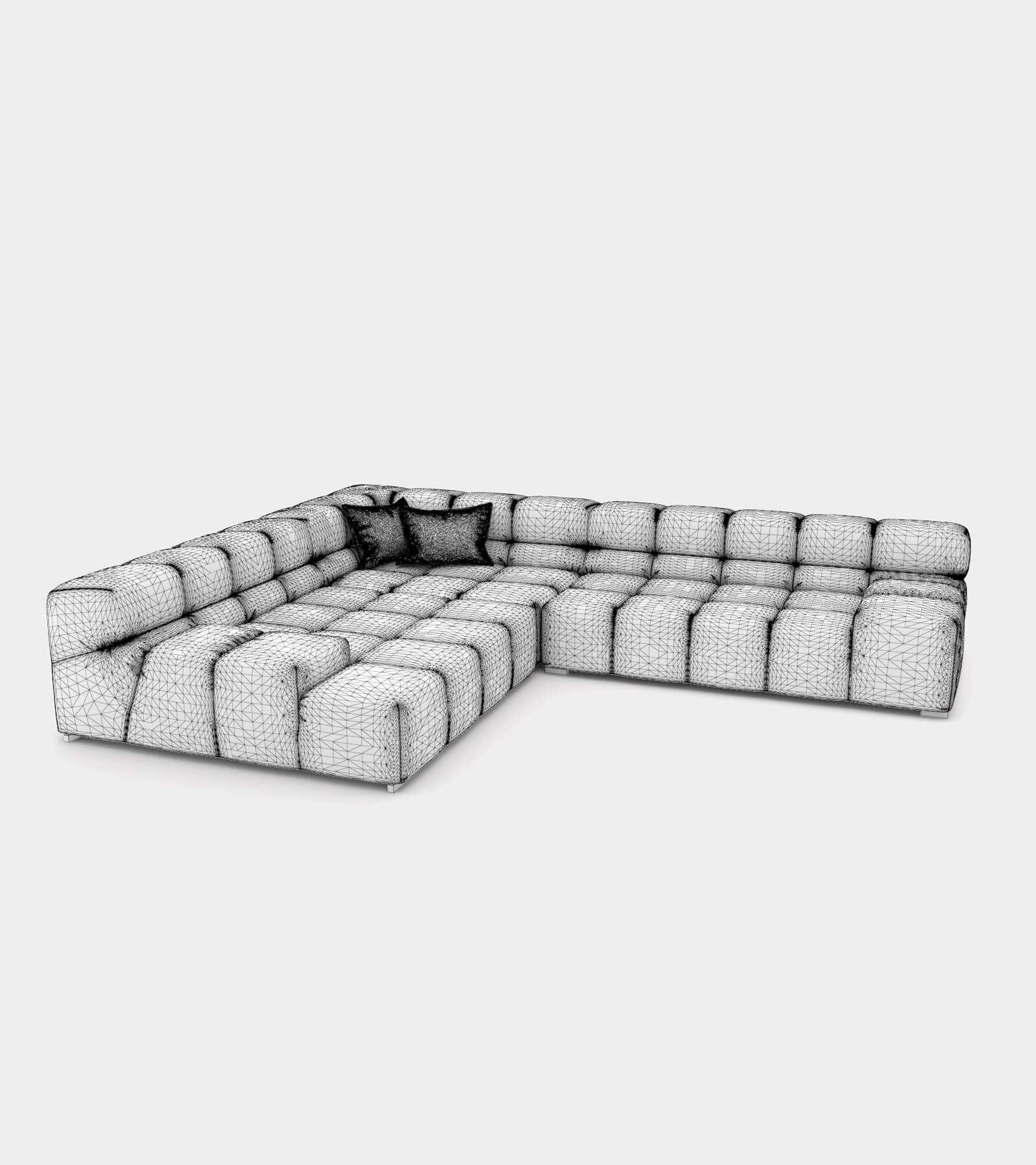 Modular couch system-wire 3D Model