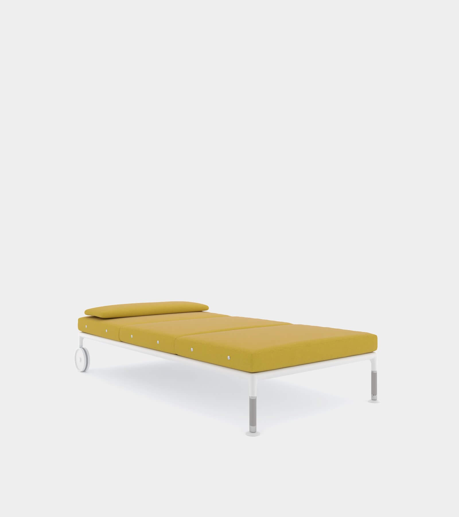 Outdoor chaise longue with wheels 2 - 3D Model