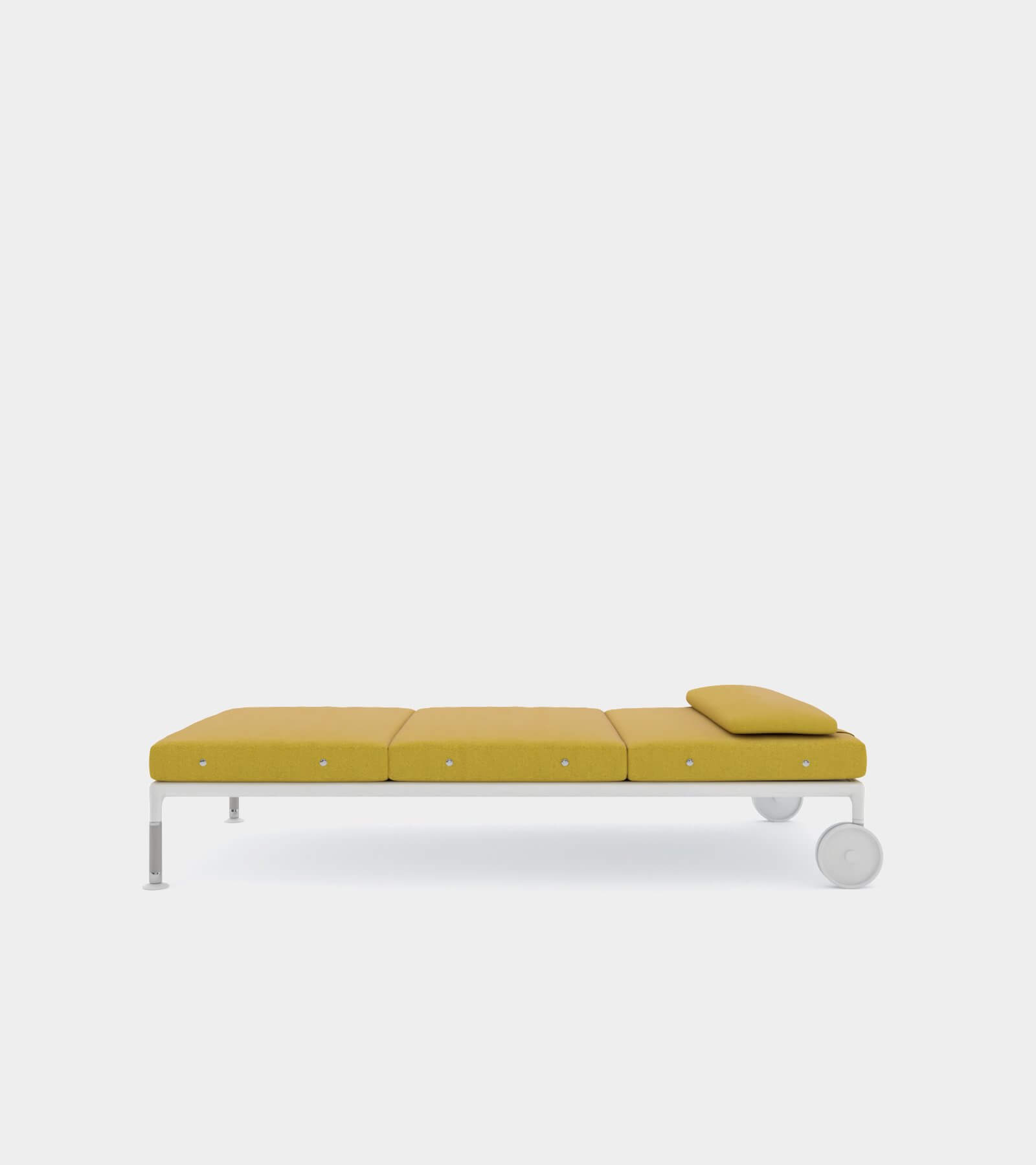 Outdoor chaise longue with wheels - 3D Model