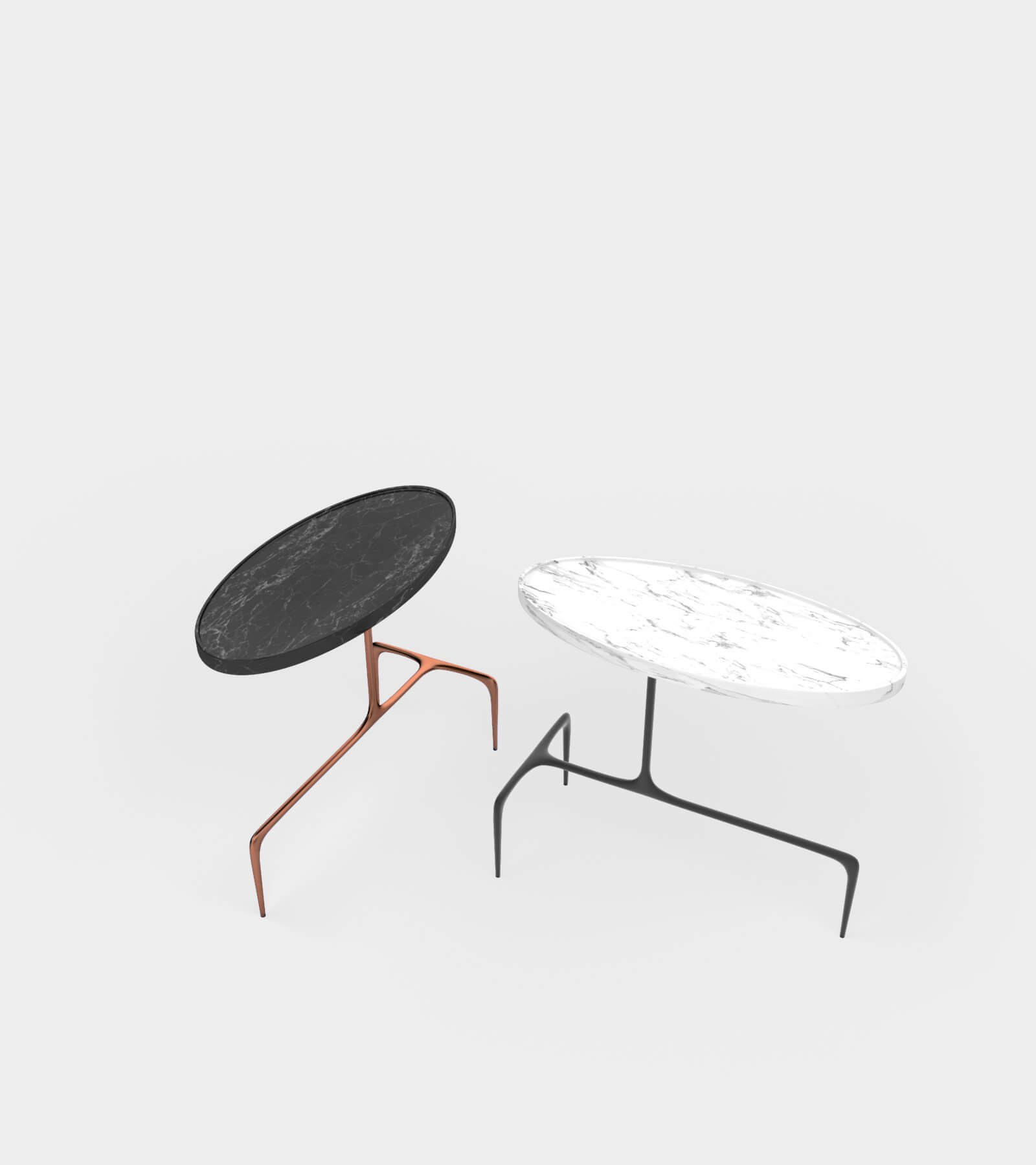 Oval occasional table 2 - 3D Model