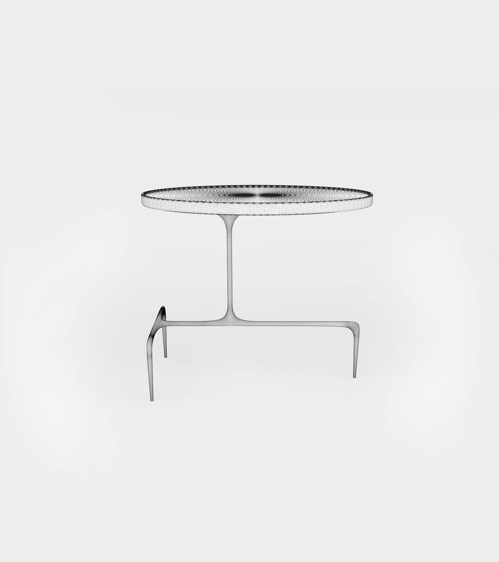 Oval occasional table-wire-1 3D Model