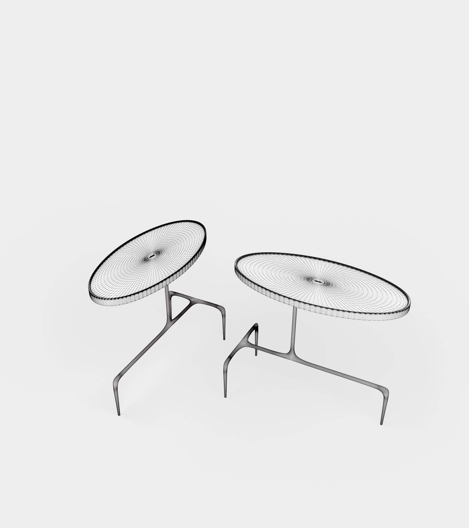Oval occasional table-wire-2 3D Model