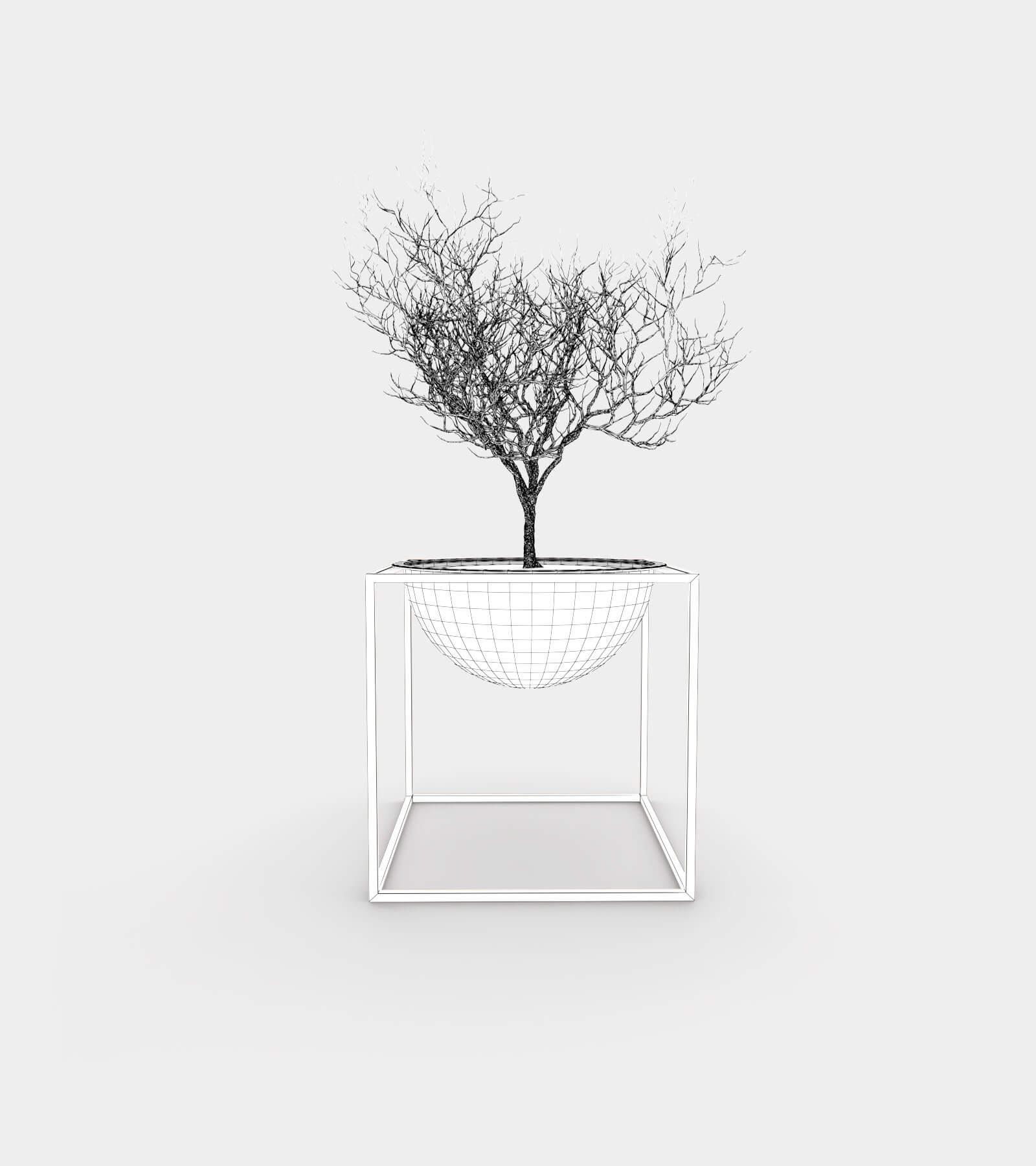 Plant stand bowl-wire-1 3D Model