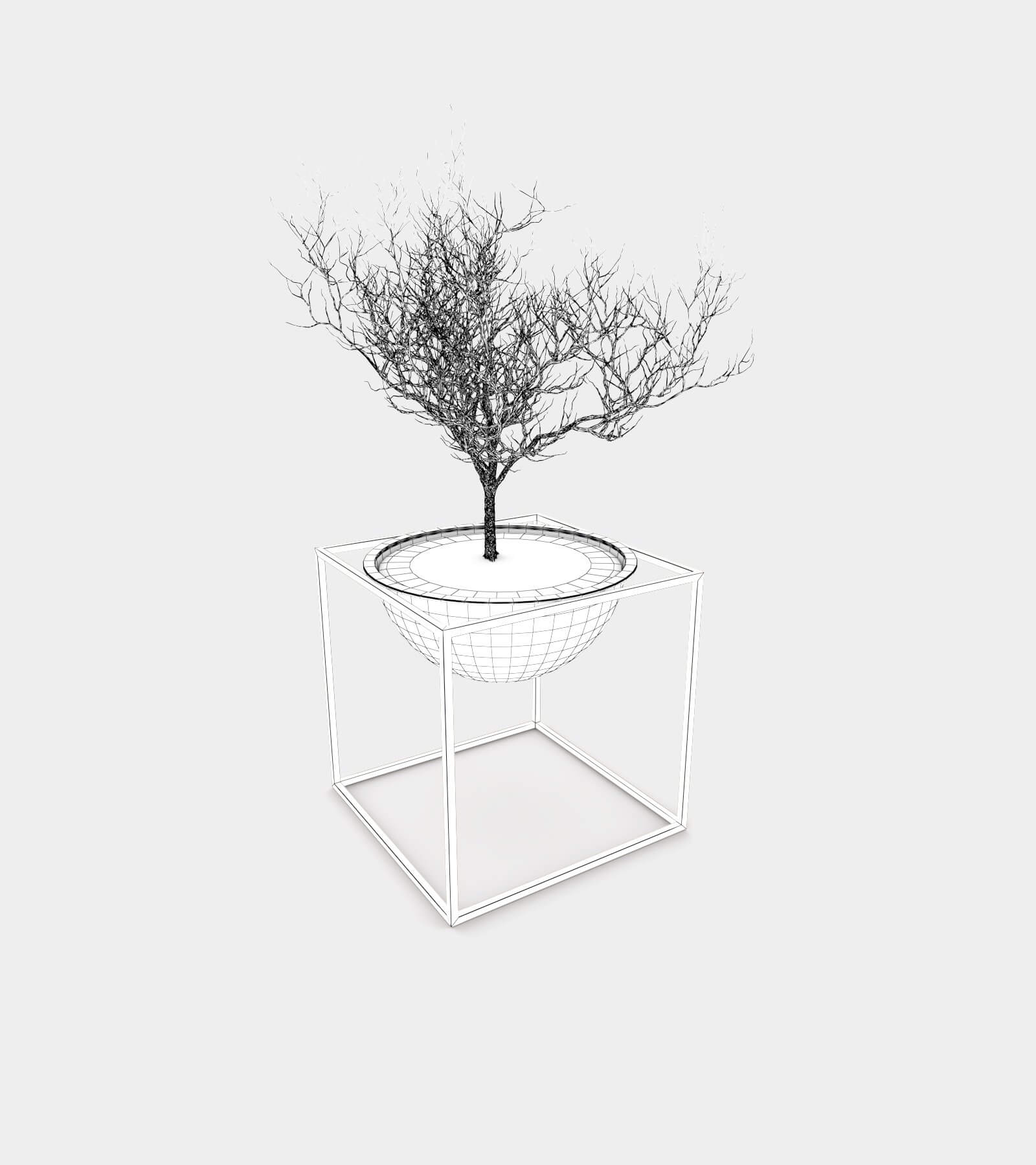 Plant stand bowl-wire-2 3D Model