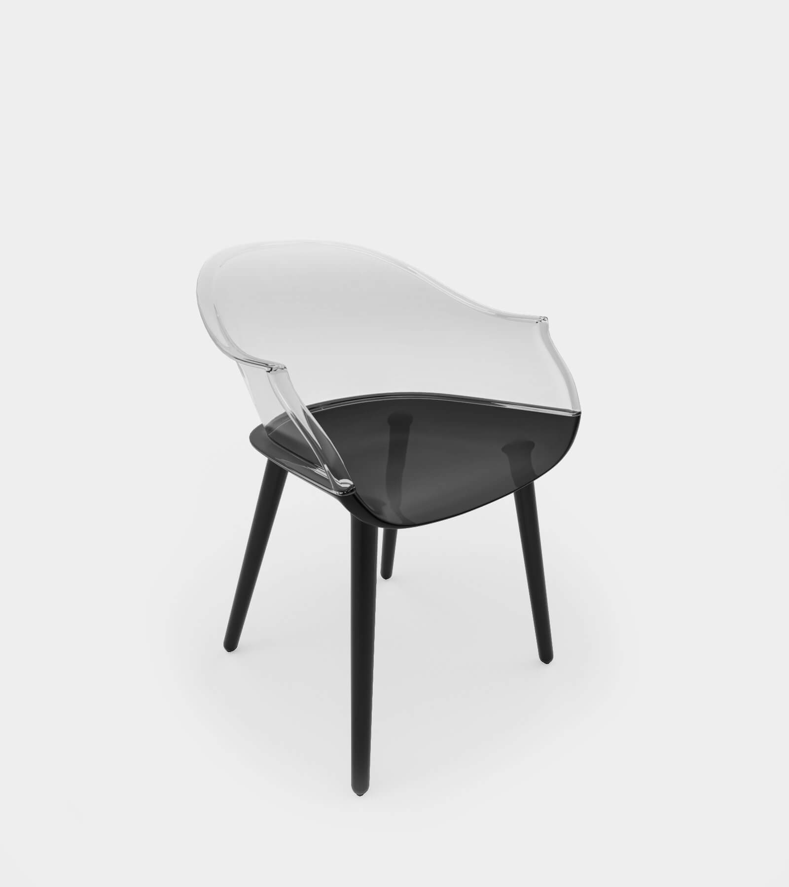 Round armchair & dining chair - 3D Model