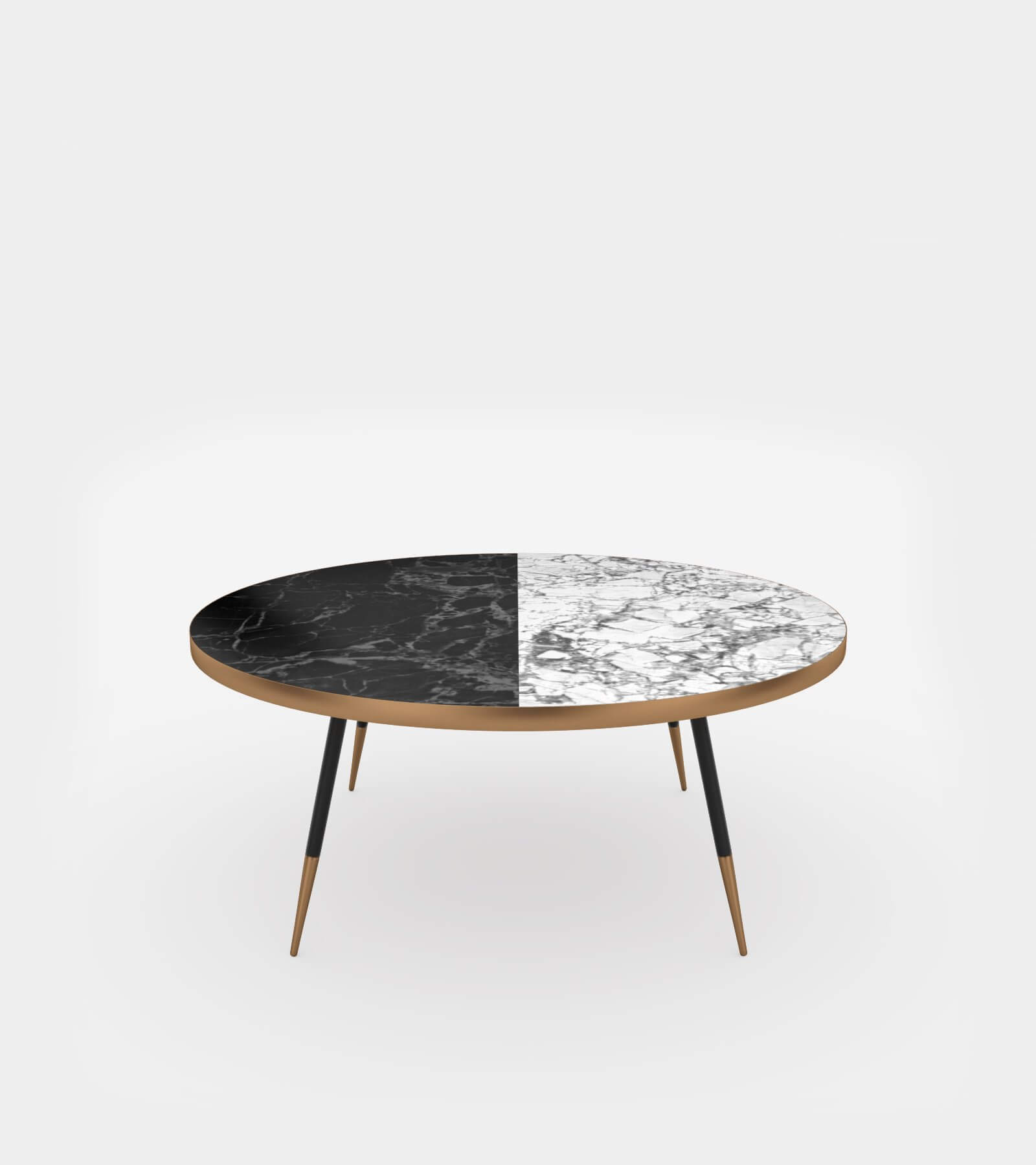 - Round Coffee Table With Marble Top - 3D Model
