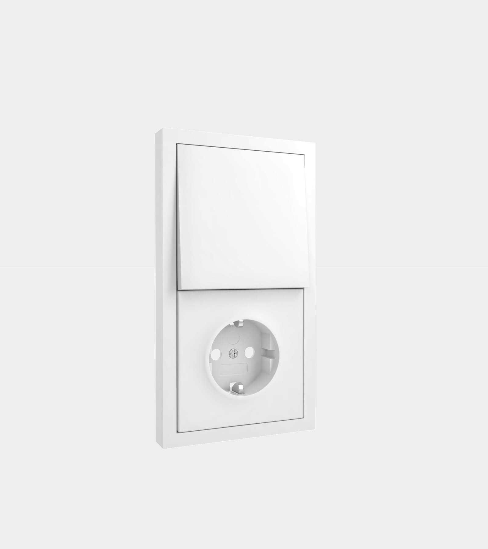 Socket with light switch 2 - 3D Model