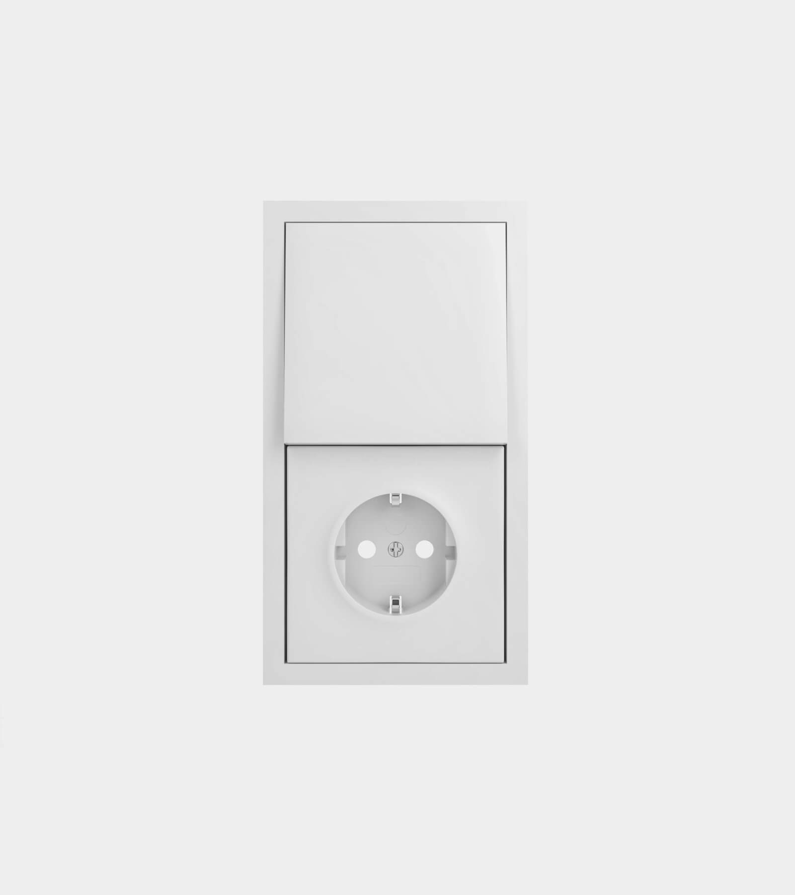 Socket with light switch - 3D Model