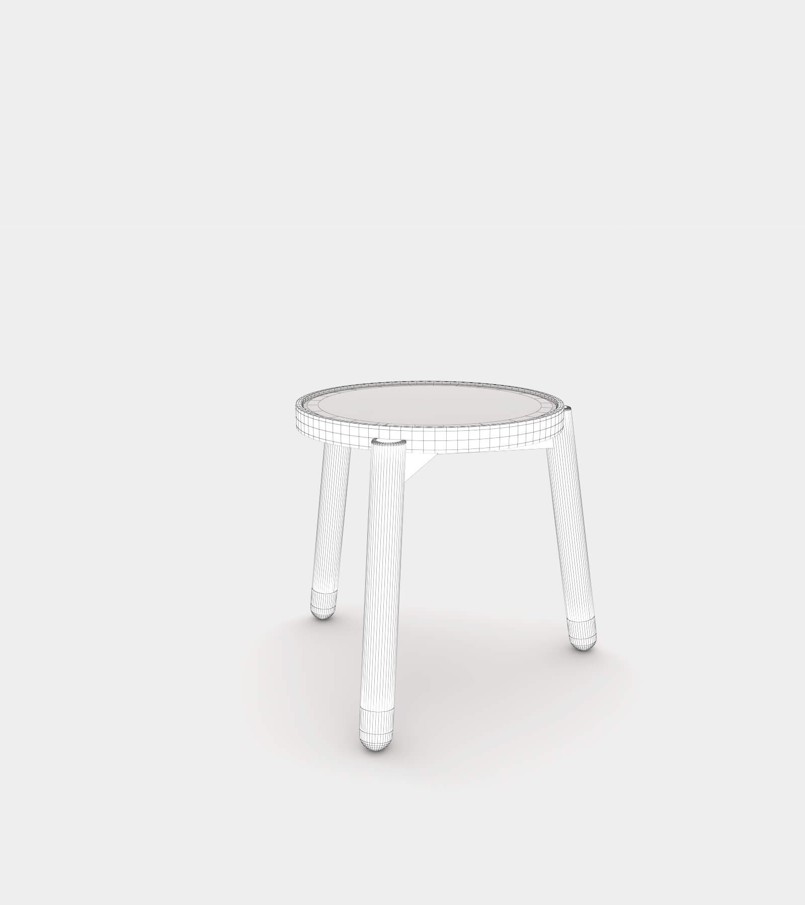 Solid wood side and coffee table-wire-1 3D Model