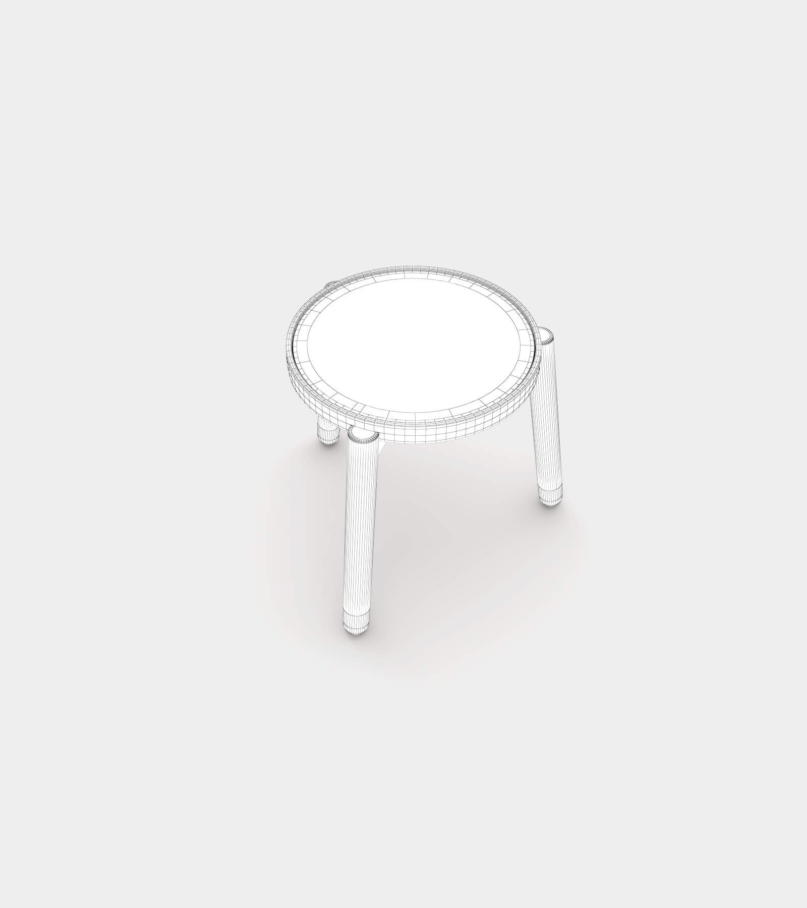 Solid wood side and coffee table-wire-2 3D Model