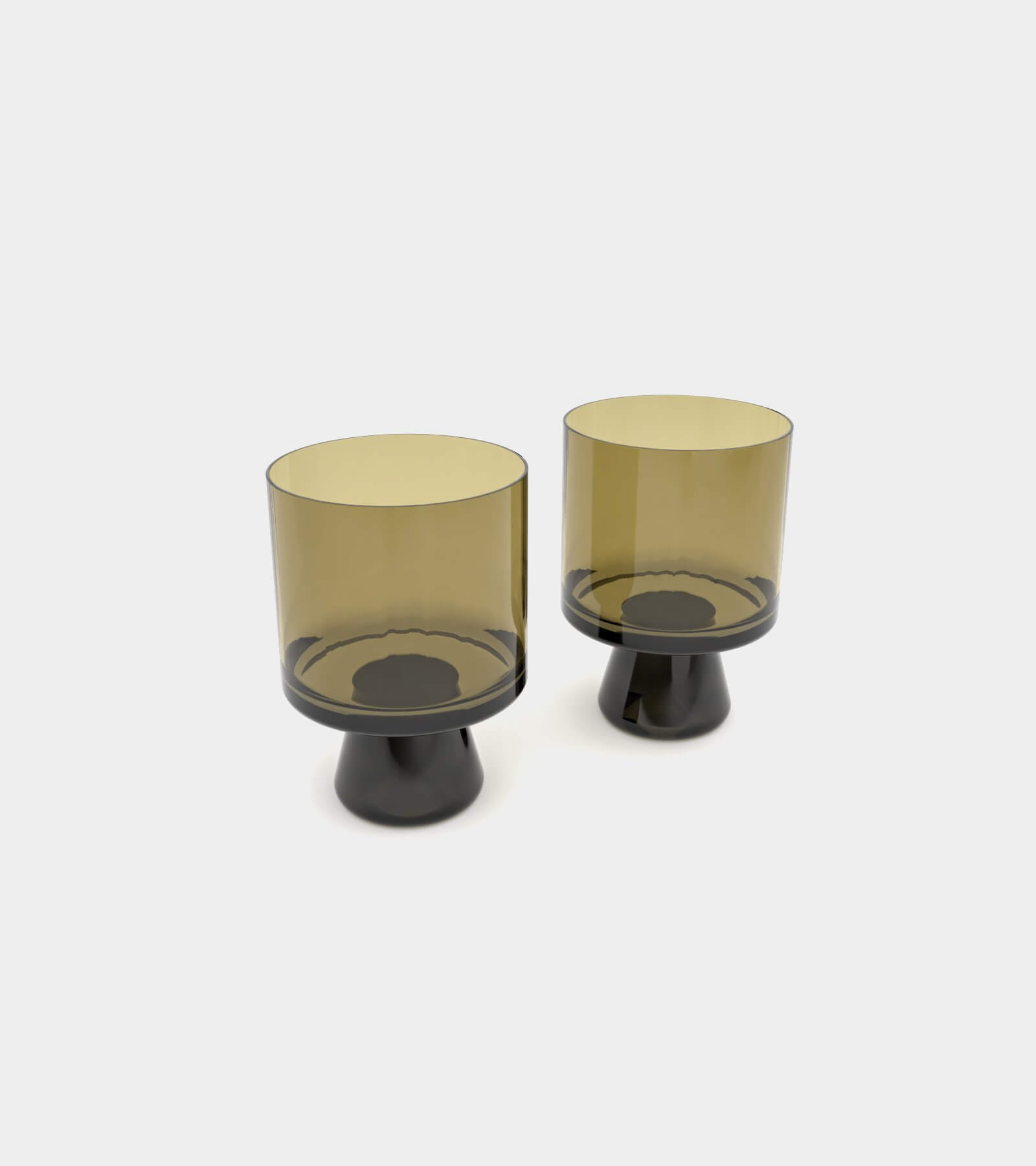 Tank low ball glasses black and yellow gray 2 - 3D Model